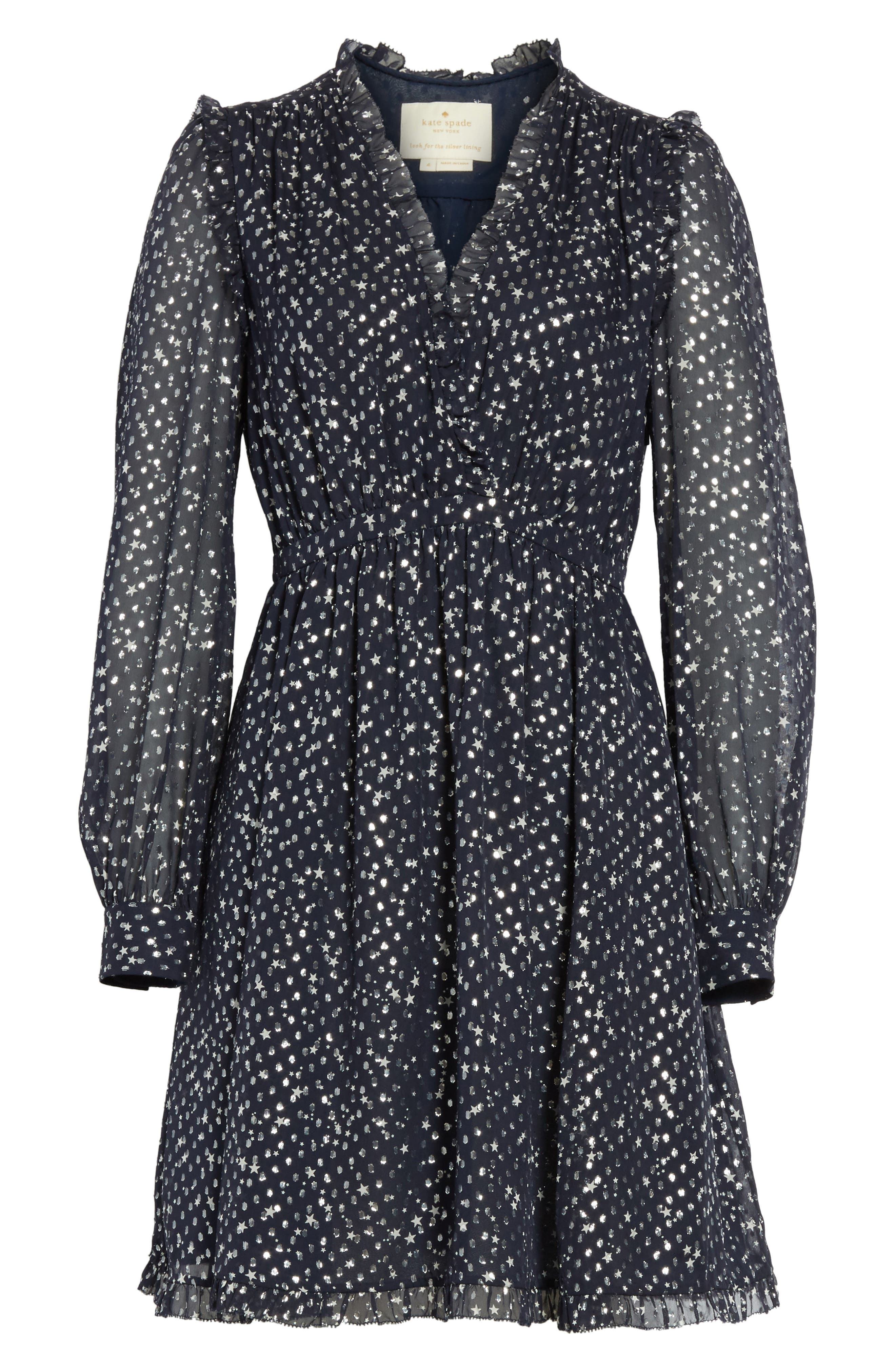 Alternate Image 6  - kate spade new york night sky dot dress