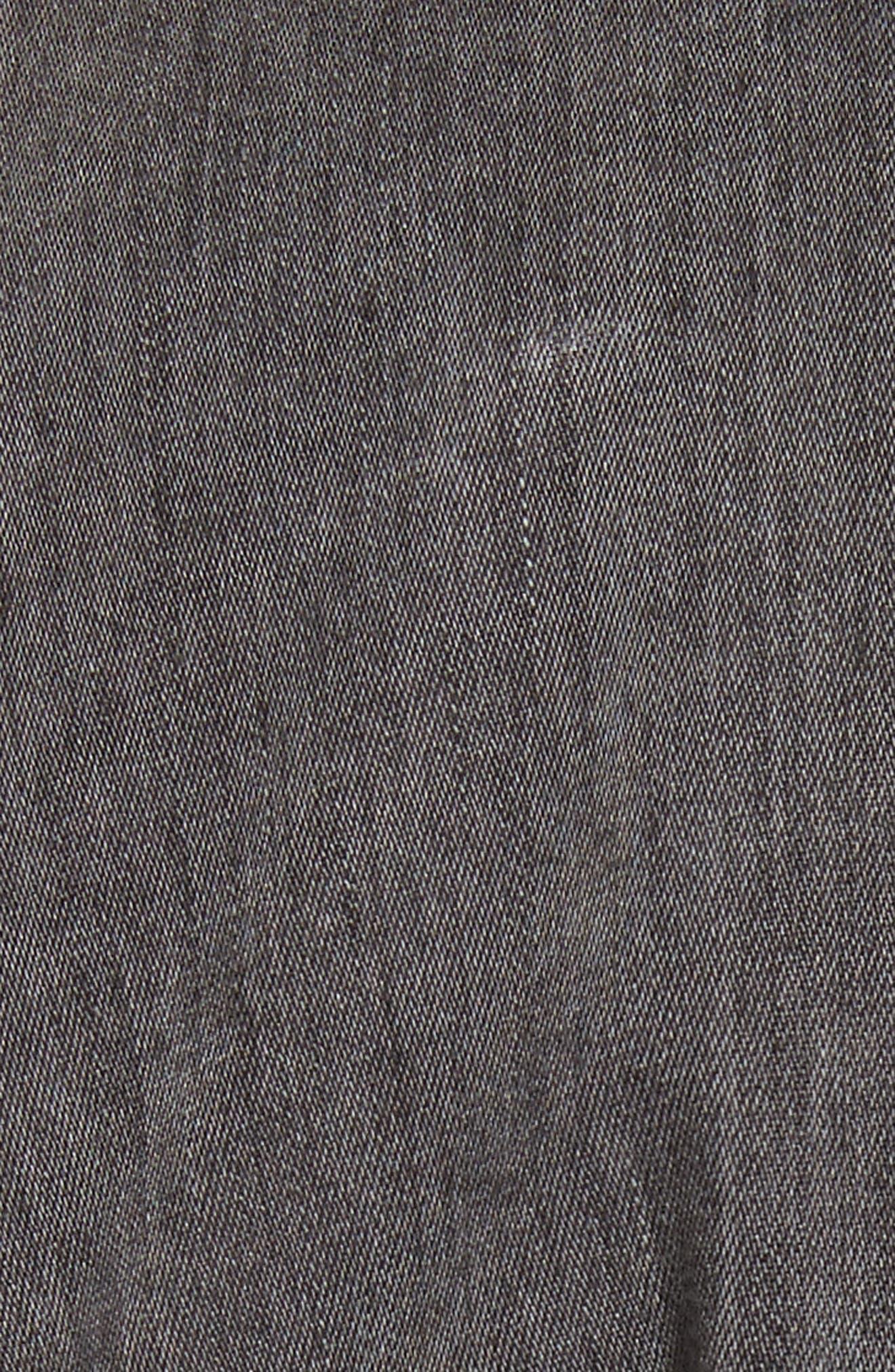 Denim Jumpsuit,                             Alternate thumbnail 5, color,                             Greystone Wash
