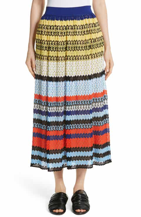Missoni Stripe Knit Midi Skirt