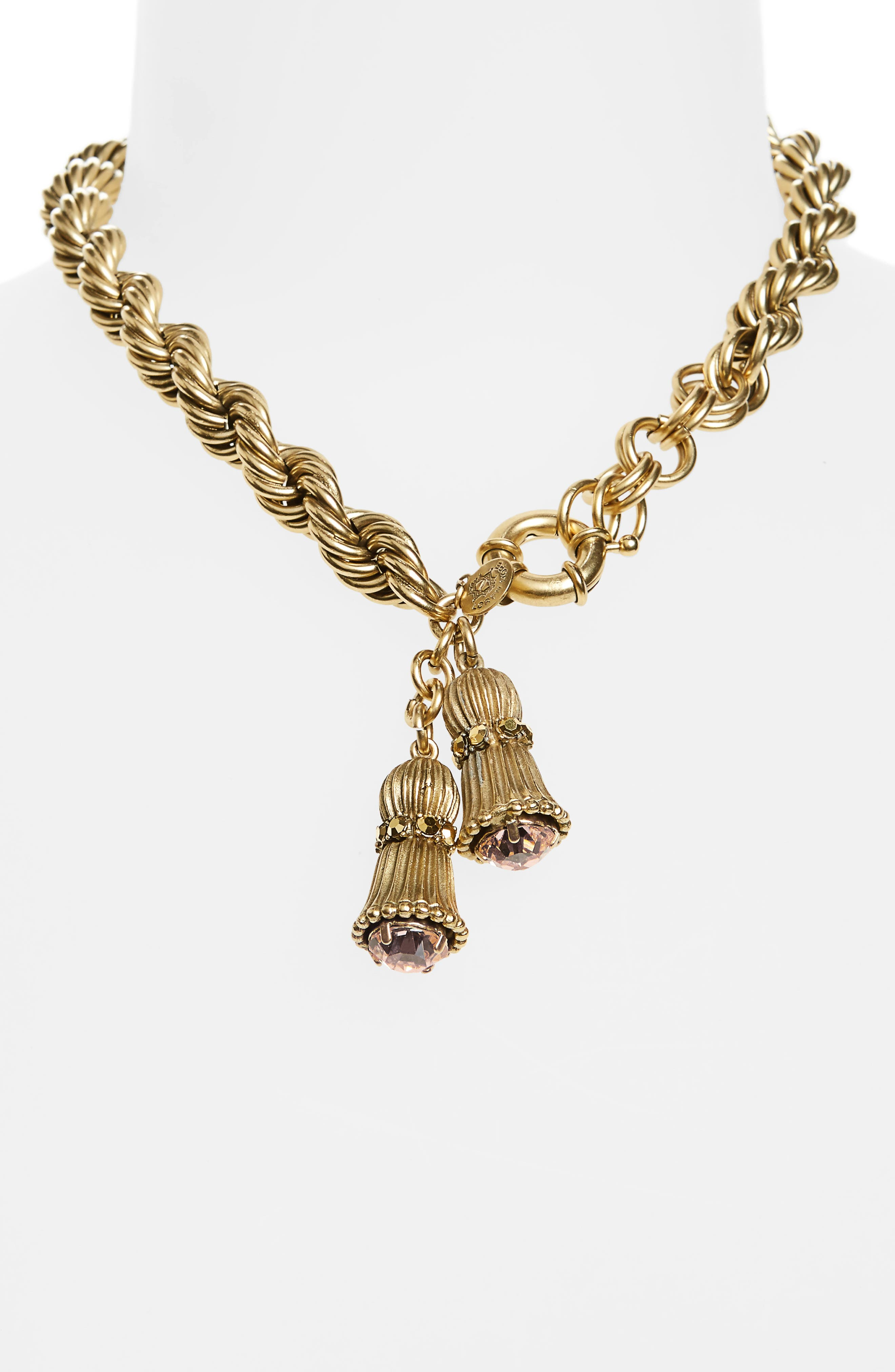 Fallon Crystal Choker Necklace,                             Alternate thumbnail 2, color,                             Gold