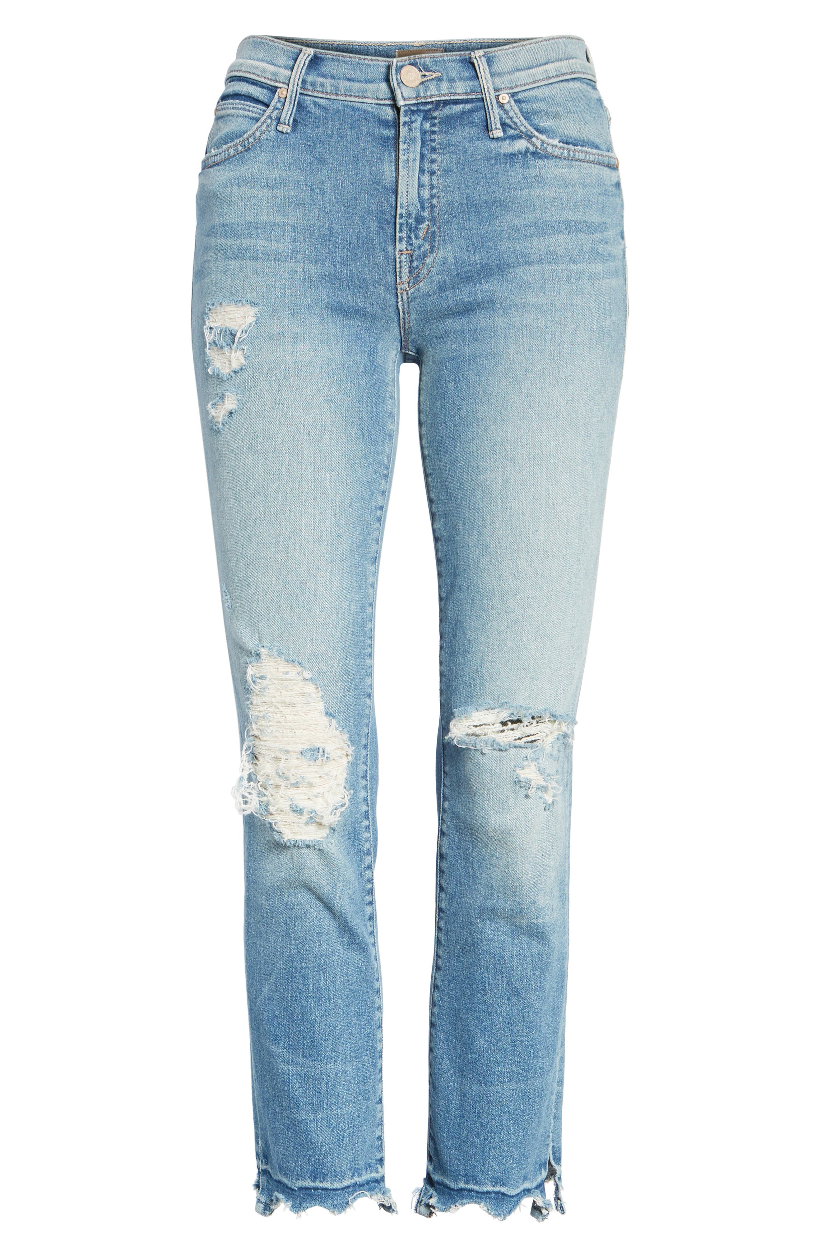 Alternate Image 7  - MOTHER The Rascal High Waist Ankle Jeans (Push The Envelope)