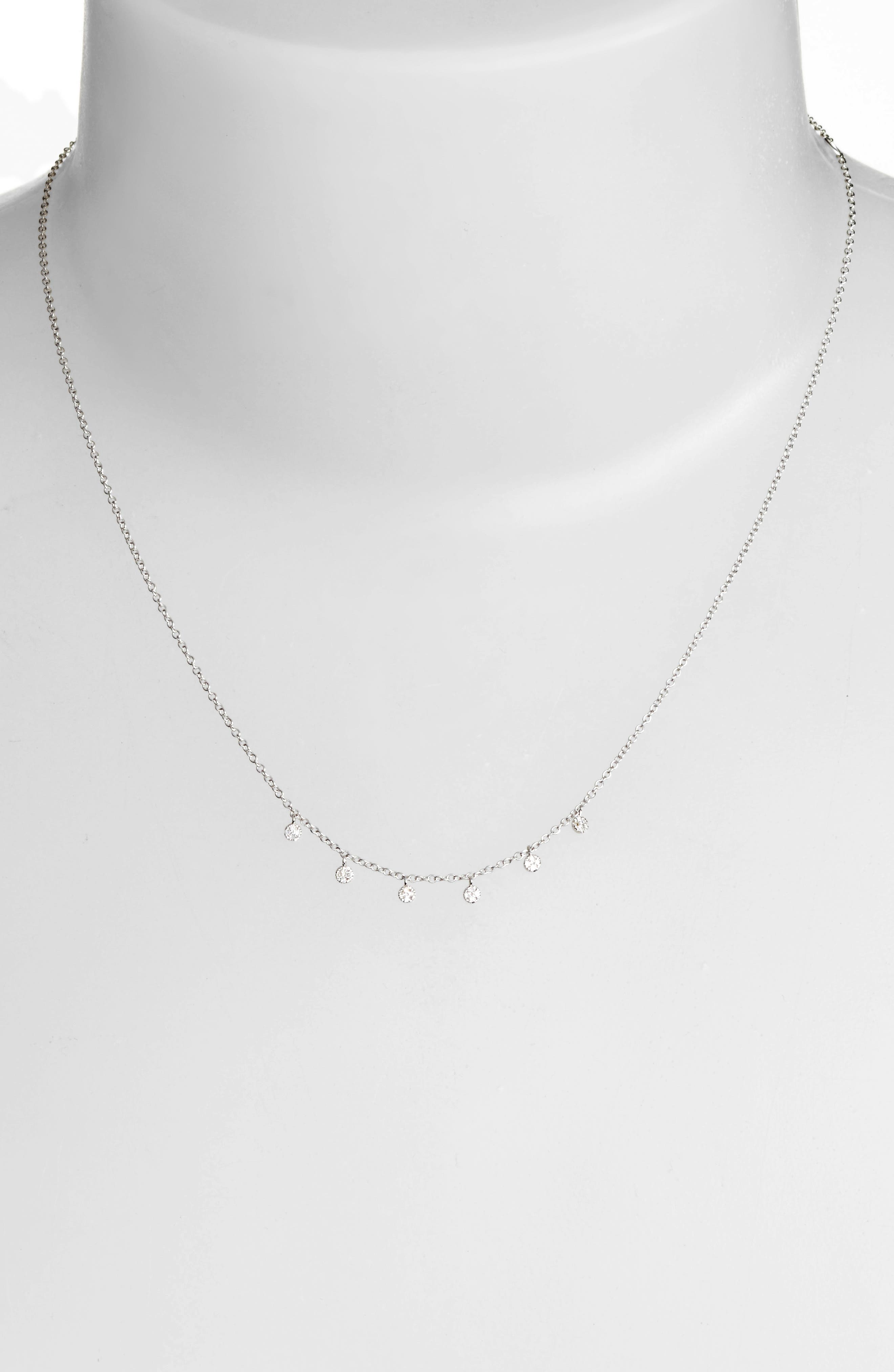 Meria T Diamond Disc Collar Necklace