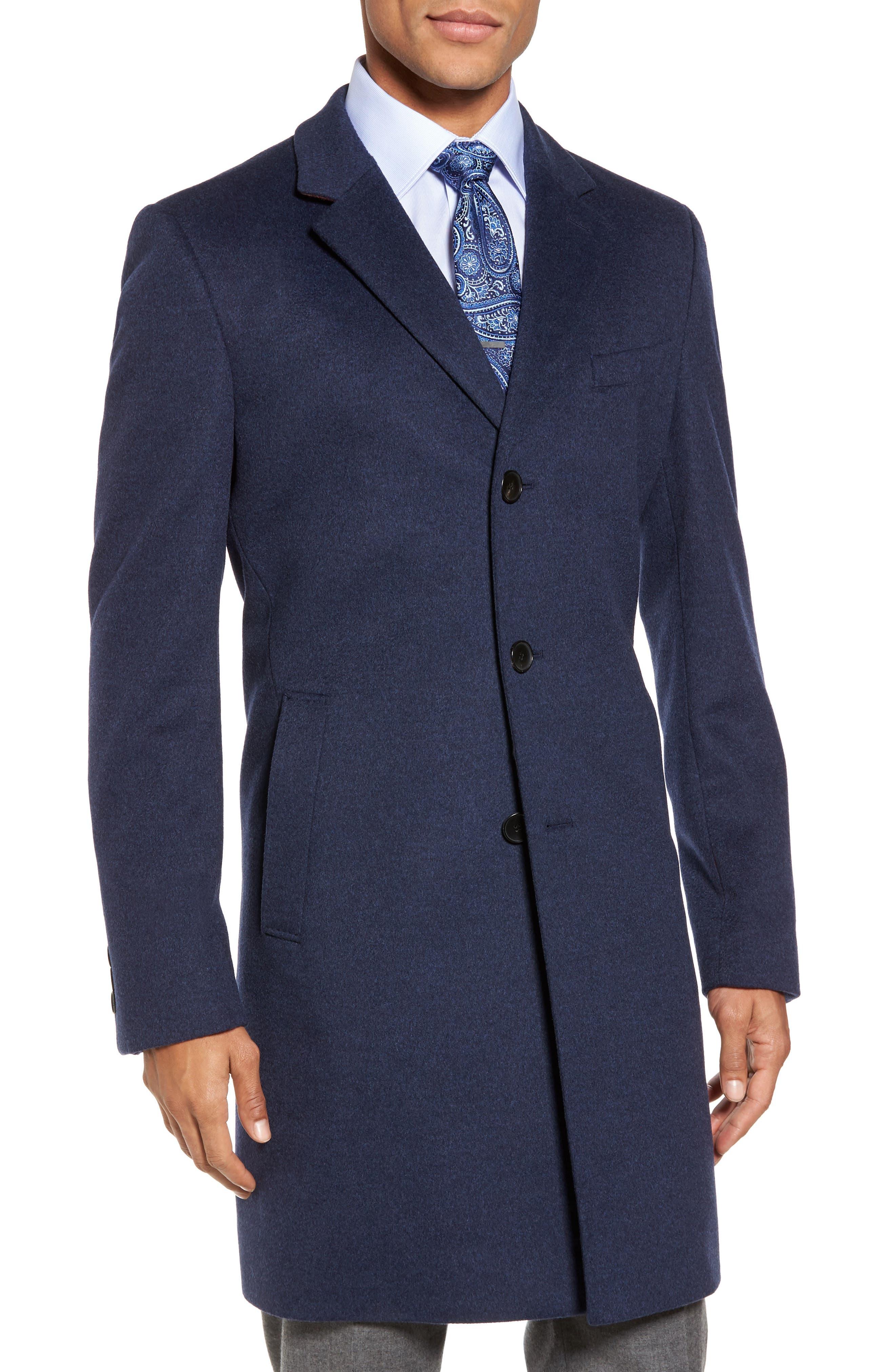 Alternate Image 1 Selected - BOSS Nye Wool & Cashmere Topcoat