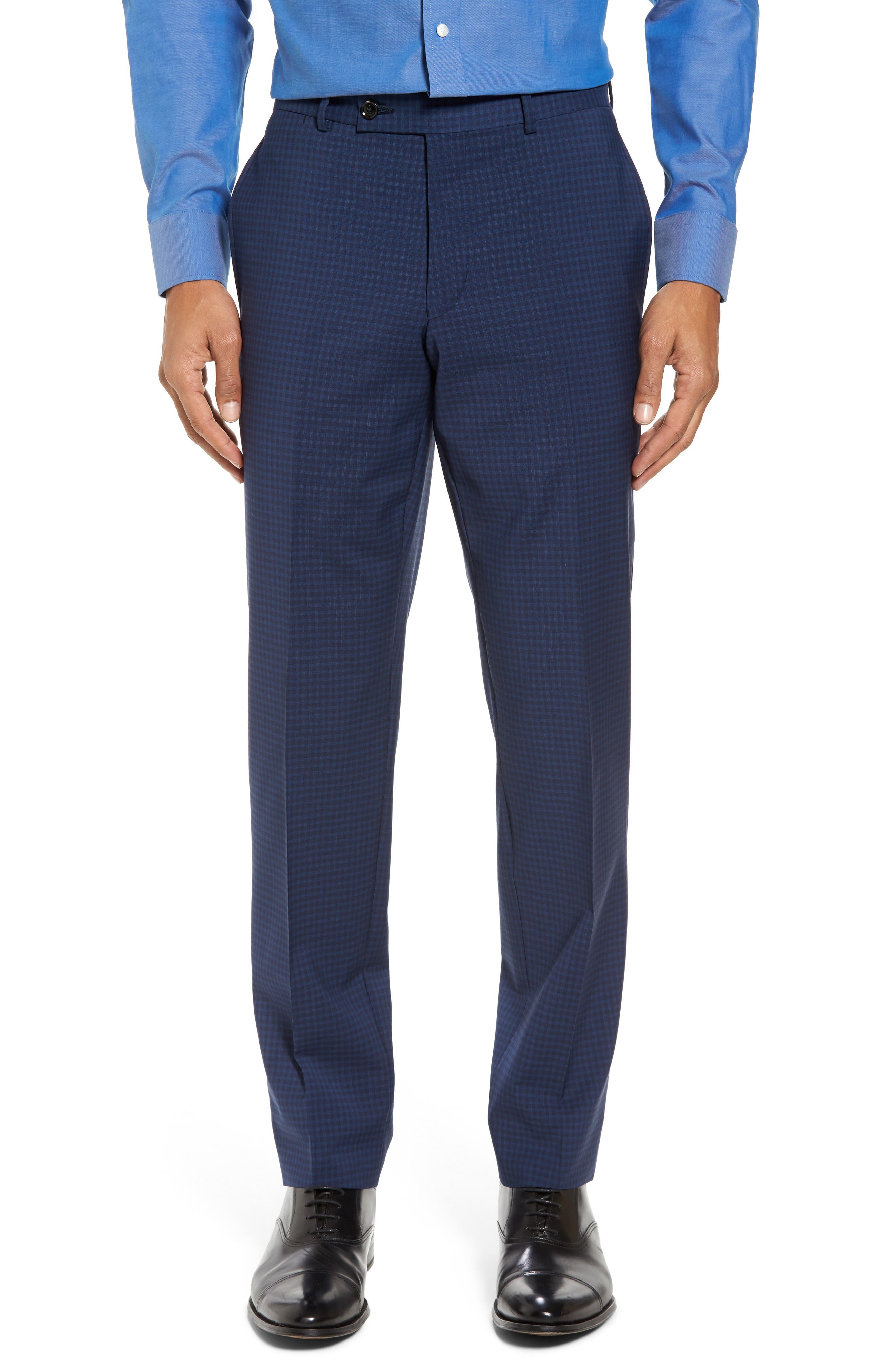 Jay Trim Fit Stretch Wool Suit,                             Alternate thumbnail 6, color,                             Blue