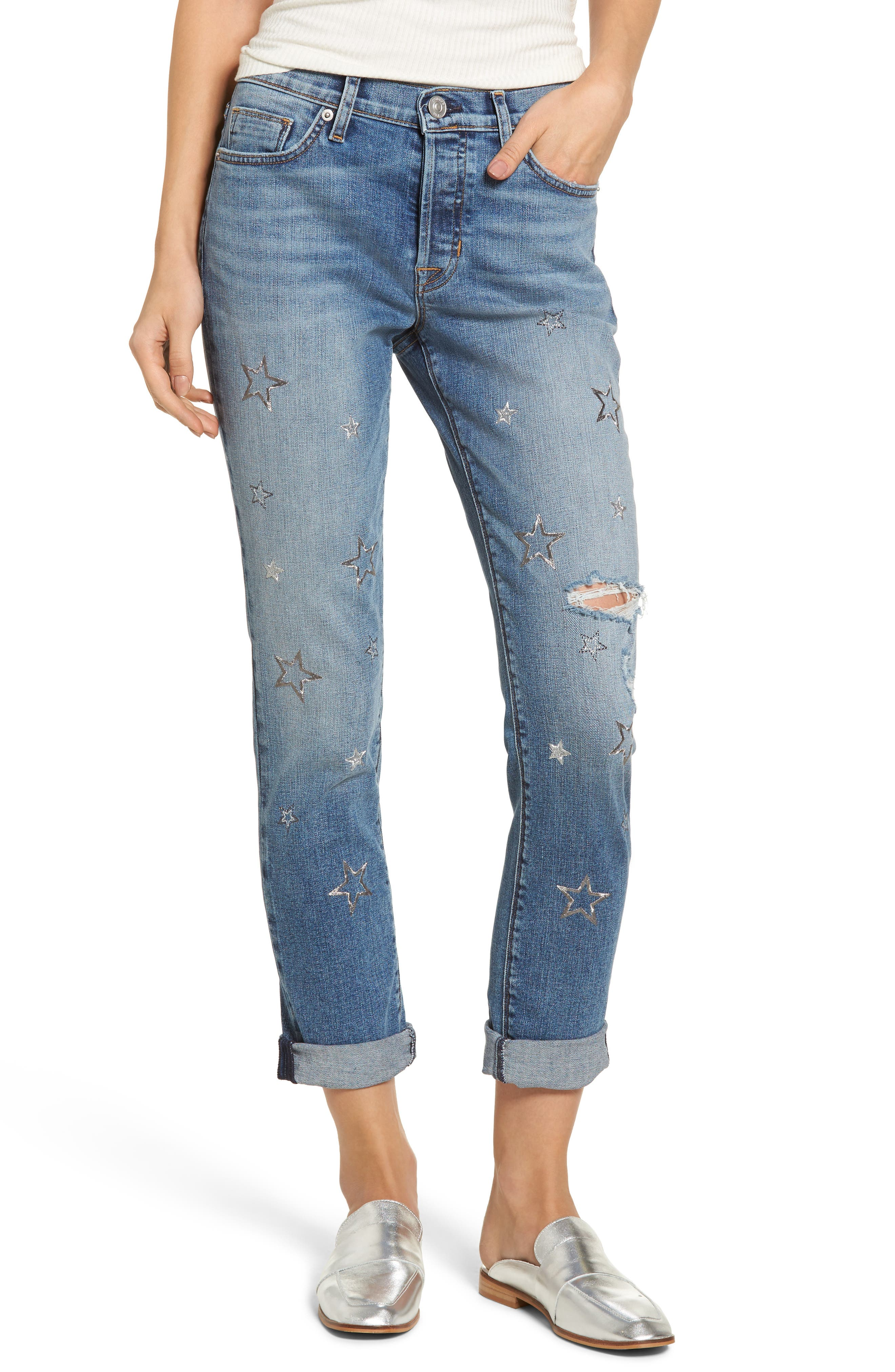 Main Image - Hudson Jeans Crop Riley Relaxed Straight Leg Jeans (Optimize)