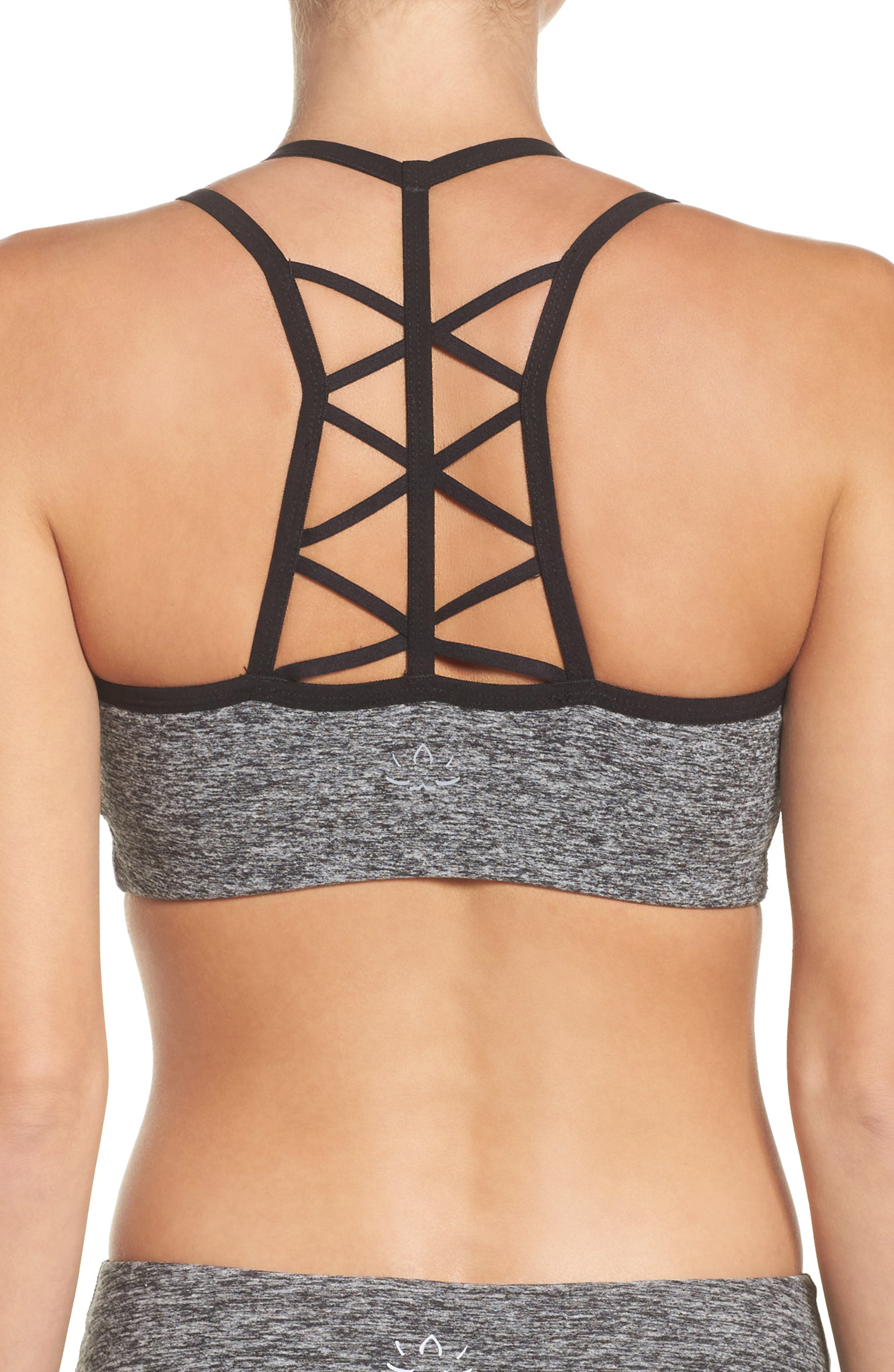 Strappy Hour Bra,                             Alternate thumbnail 2, color,                             Black/ White