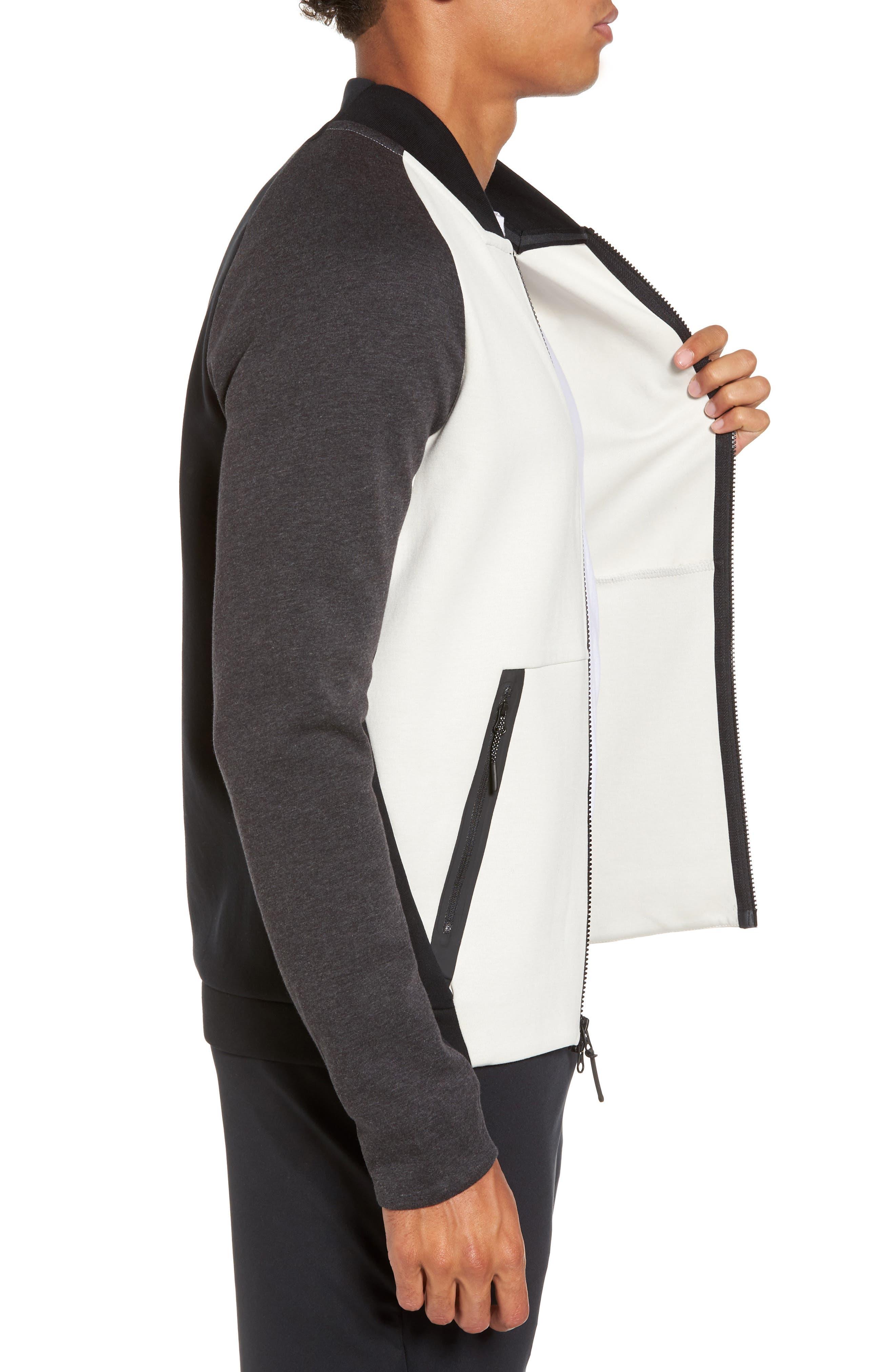 Alternate Image 3  - Nike Tech Fleece Varsity Jacket