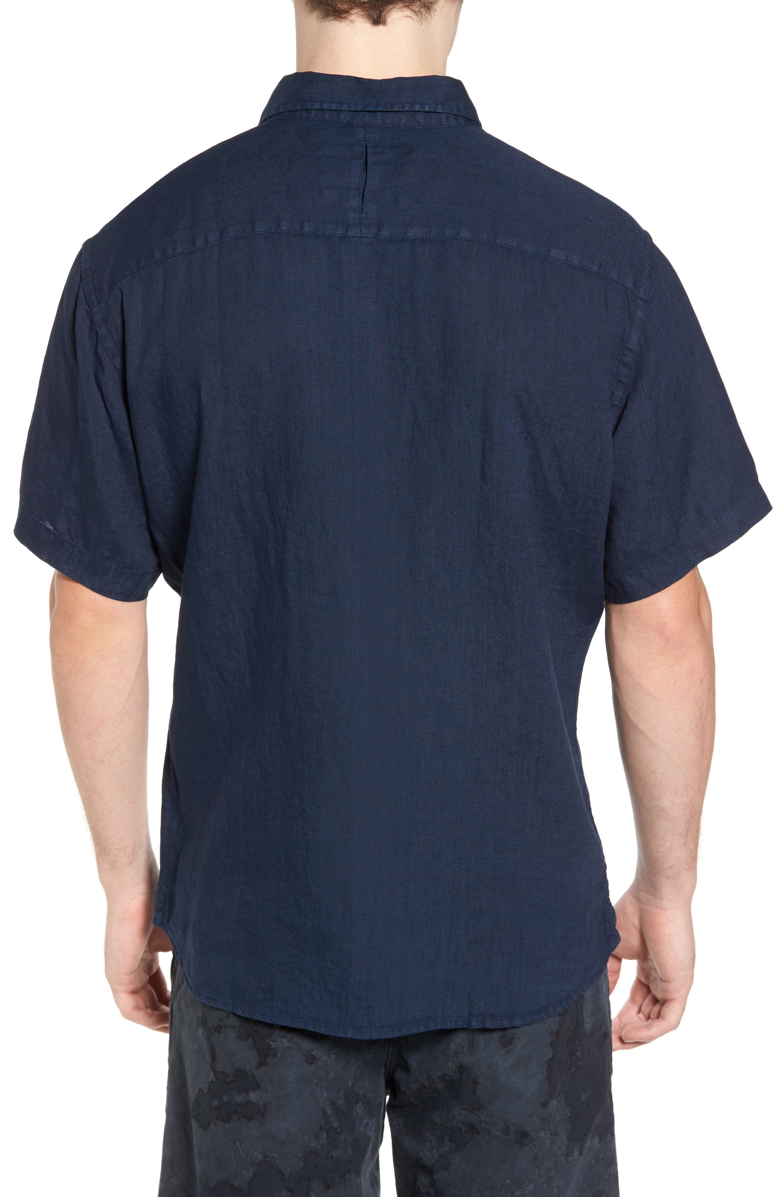 Alternate Image 2  - Original Paperbacks Rome Trim Fit Linen Sport Shirt