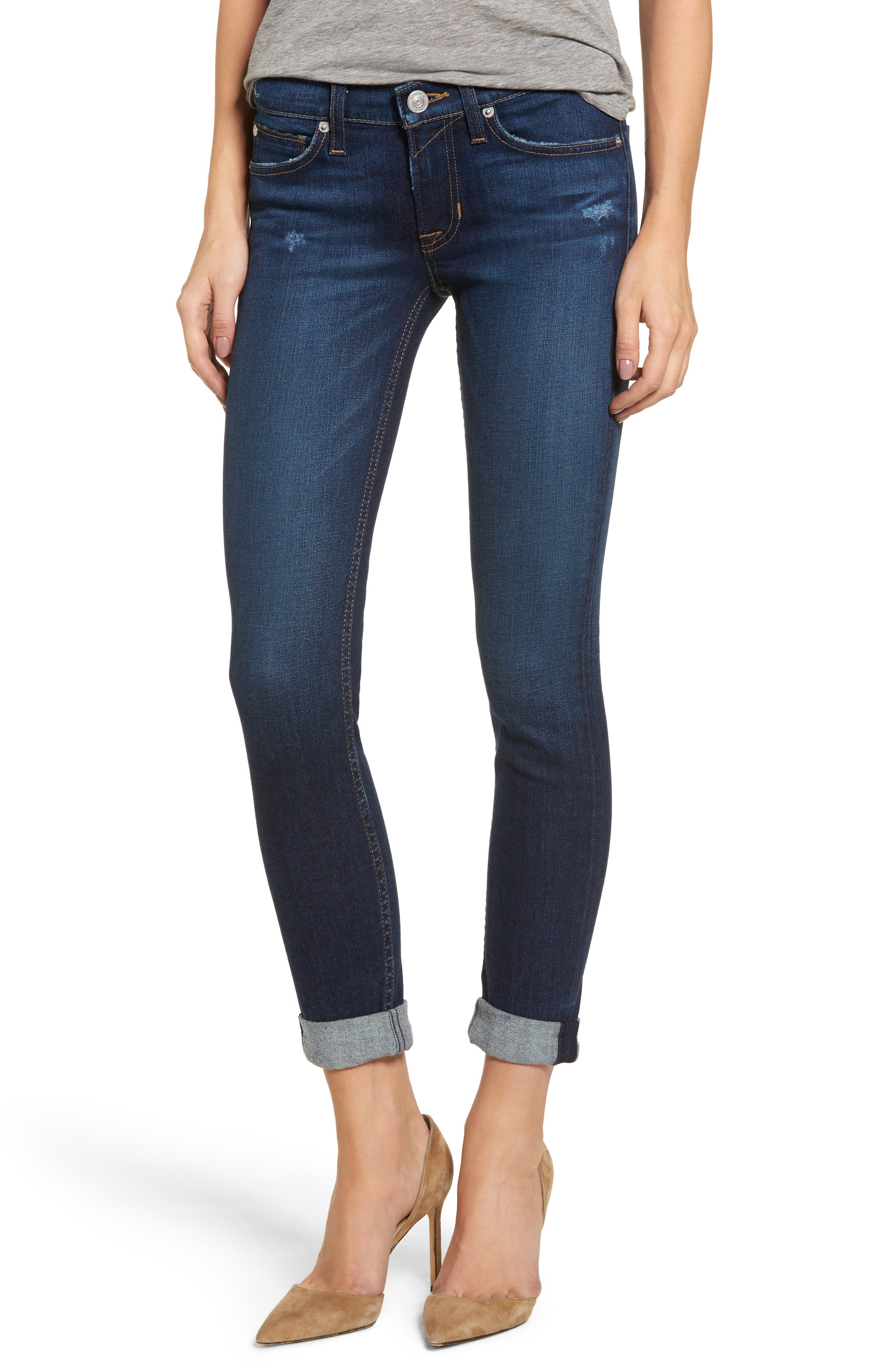 Hudson Jeans Tally Crop Skinny Jeans (Corrupt)