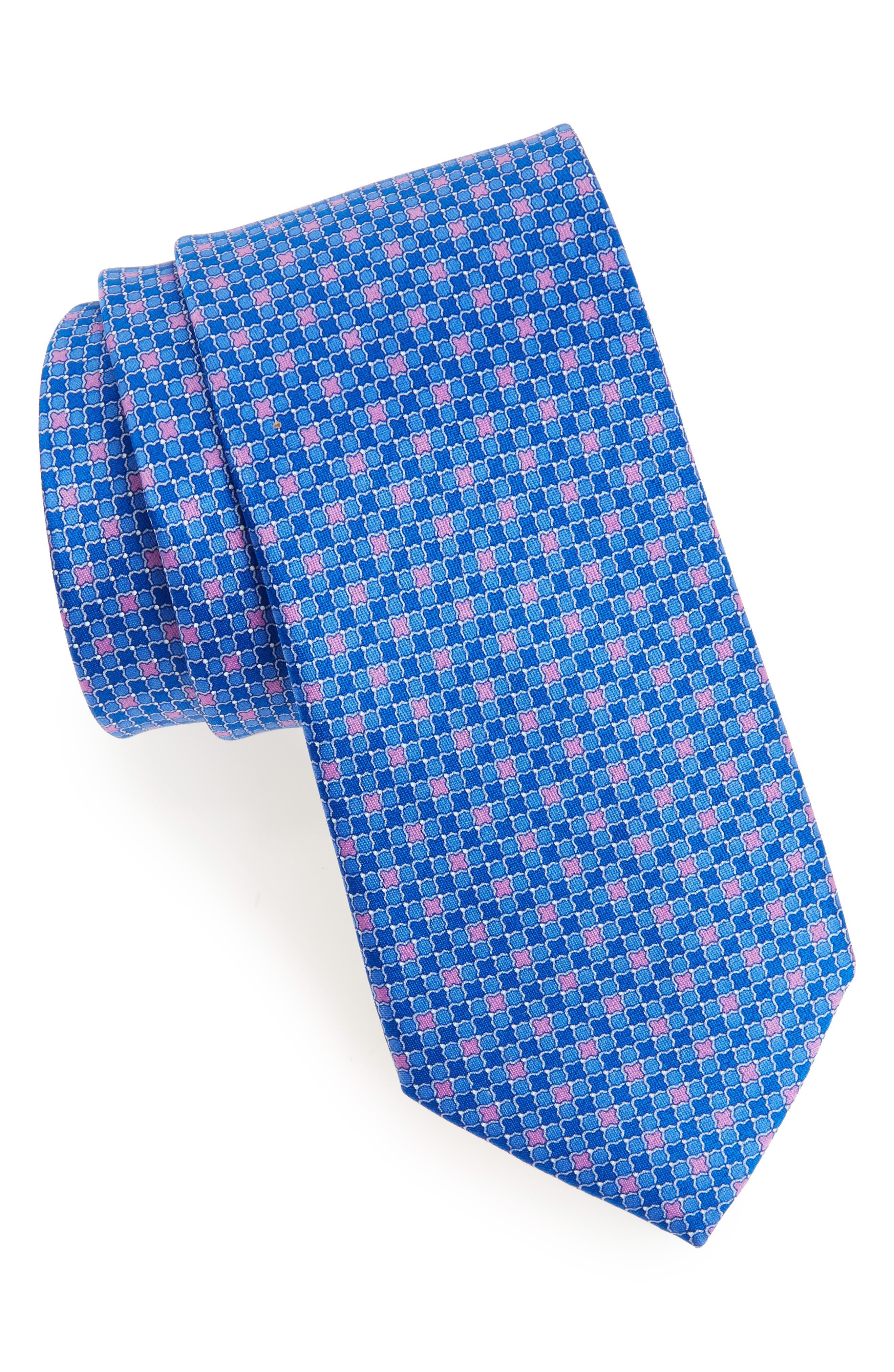 Main Image - Nordstrom Men's Shop Geometric Silk Tie