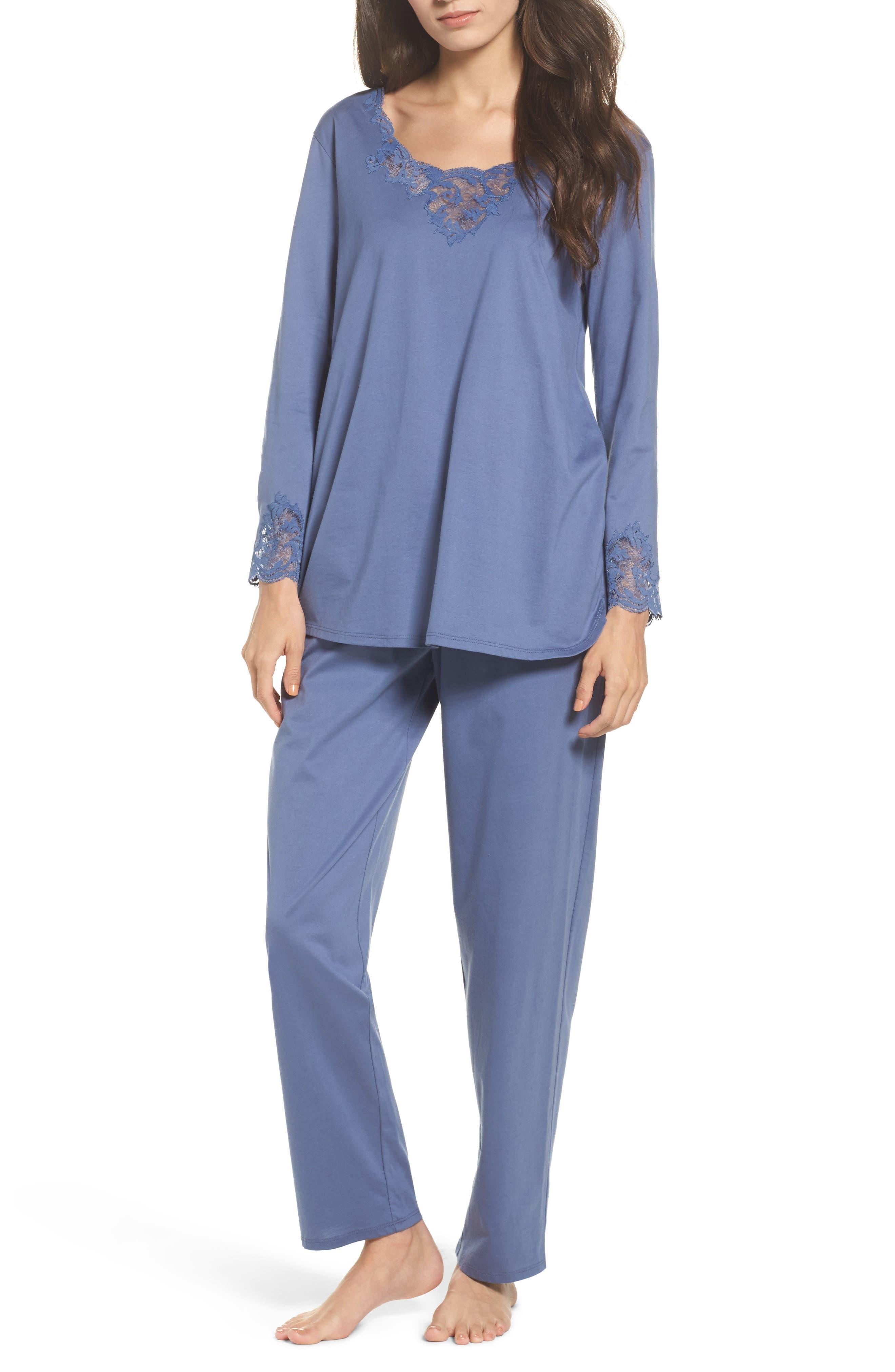 Bliss Supima<sup>®</sup> Cotton Pajamas,                             Main thumbnail 1, color,                             Blue Haze