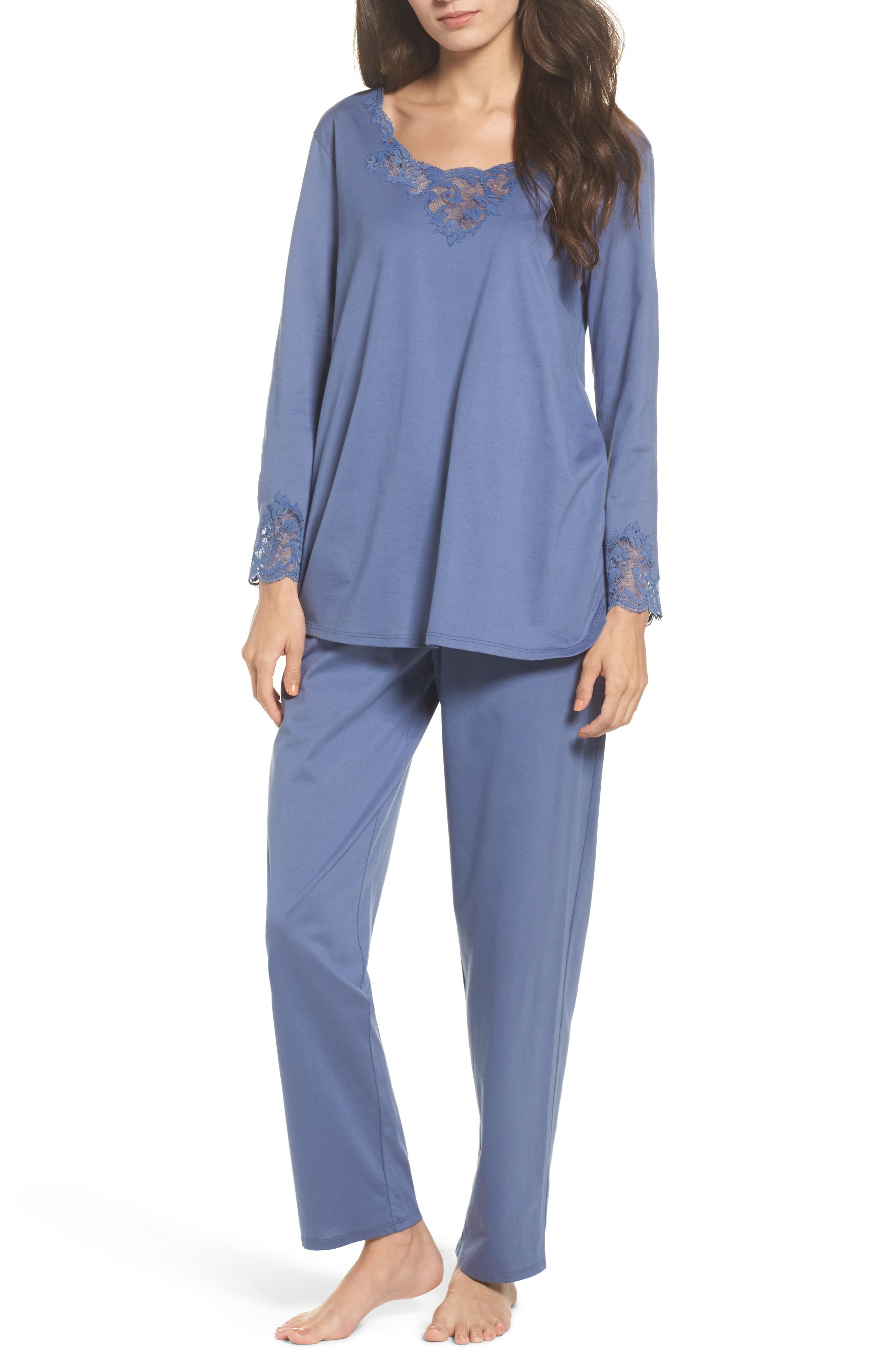 Bliss Supima<sup>®</sup> Cotton Pajamas,                         Main,                         color, Blue Haze