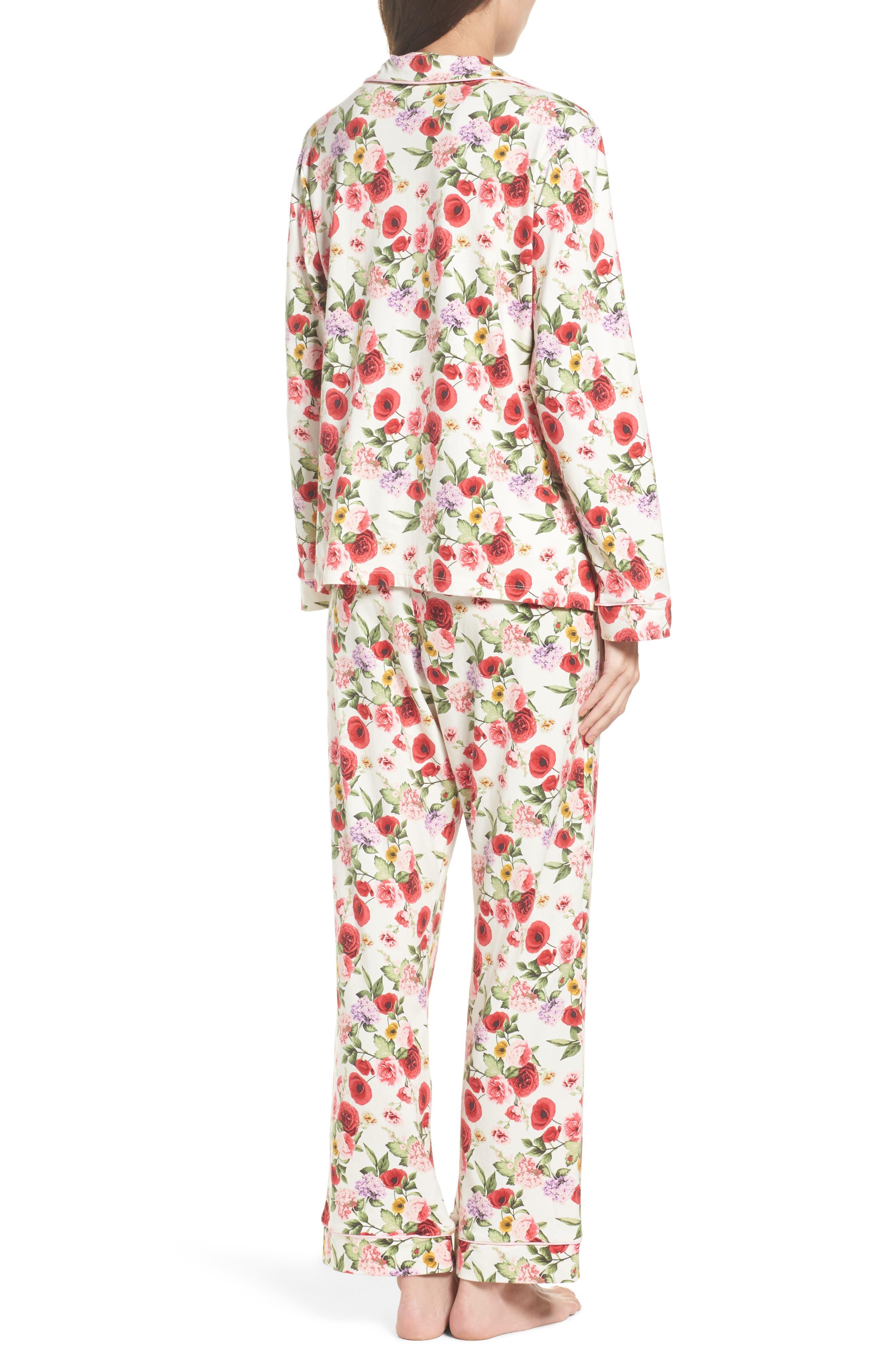 Flower Print Pajamas,                             Alternate thumbnail 2, color,                             Late Bloomers