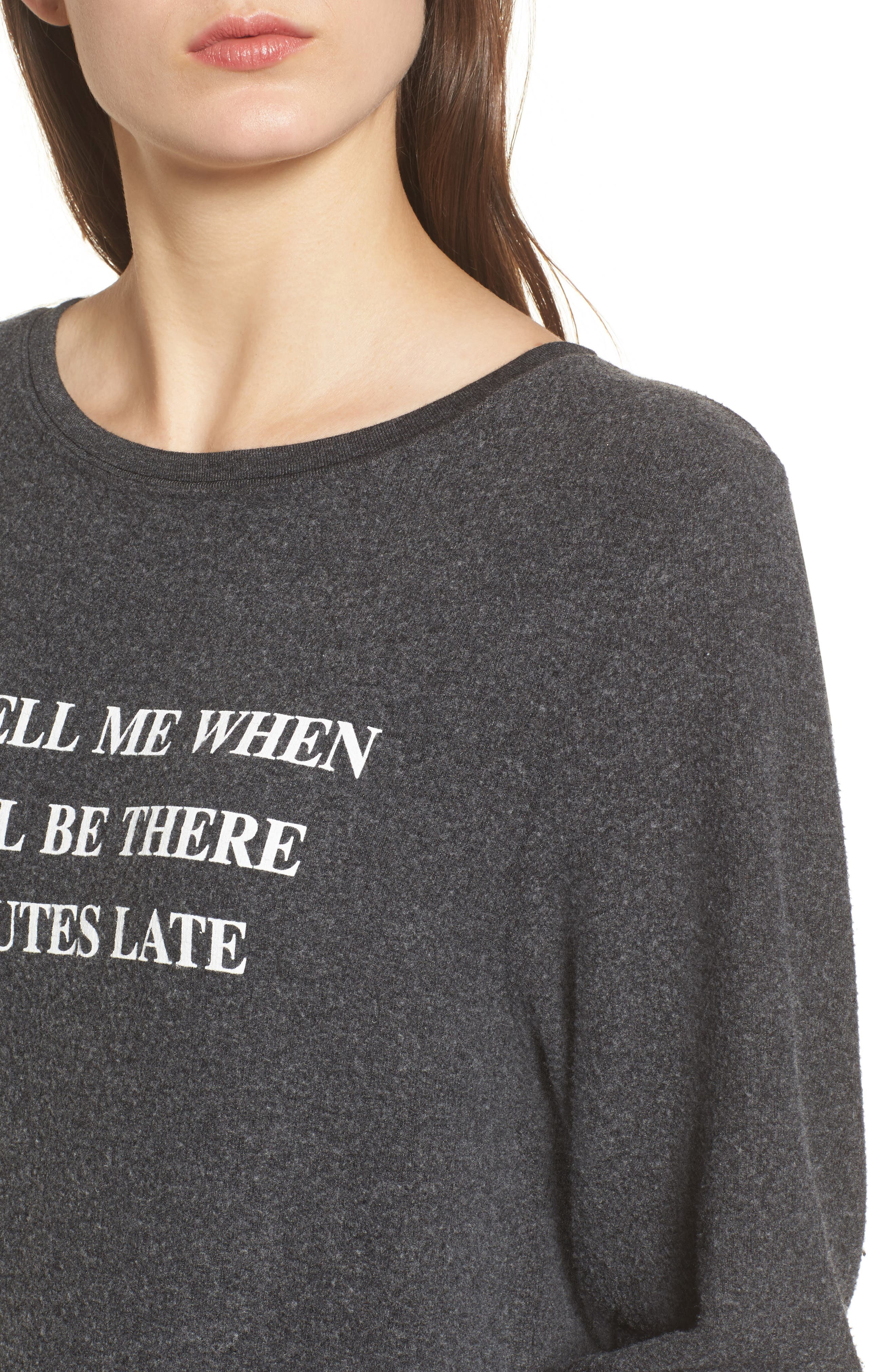 Just Tell Me When Sweatshirt,                             Alternate thumbnail 4, color,                             Black