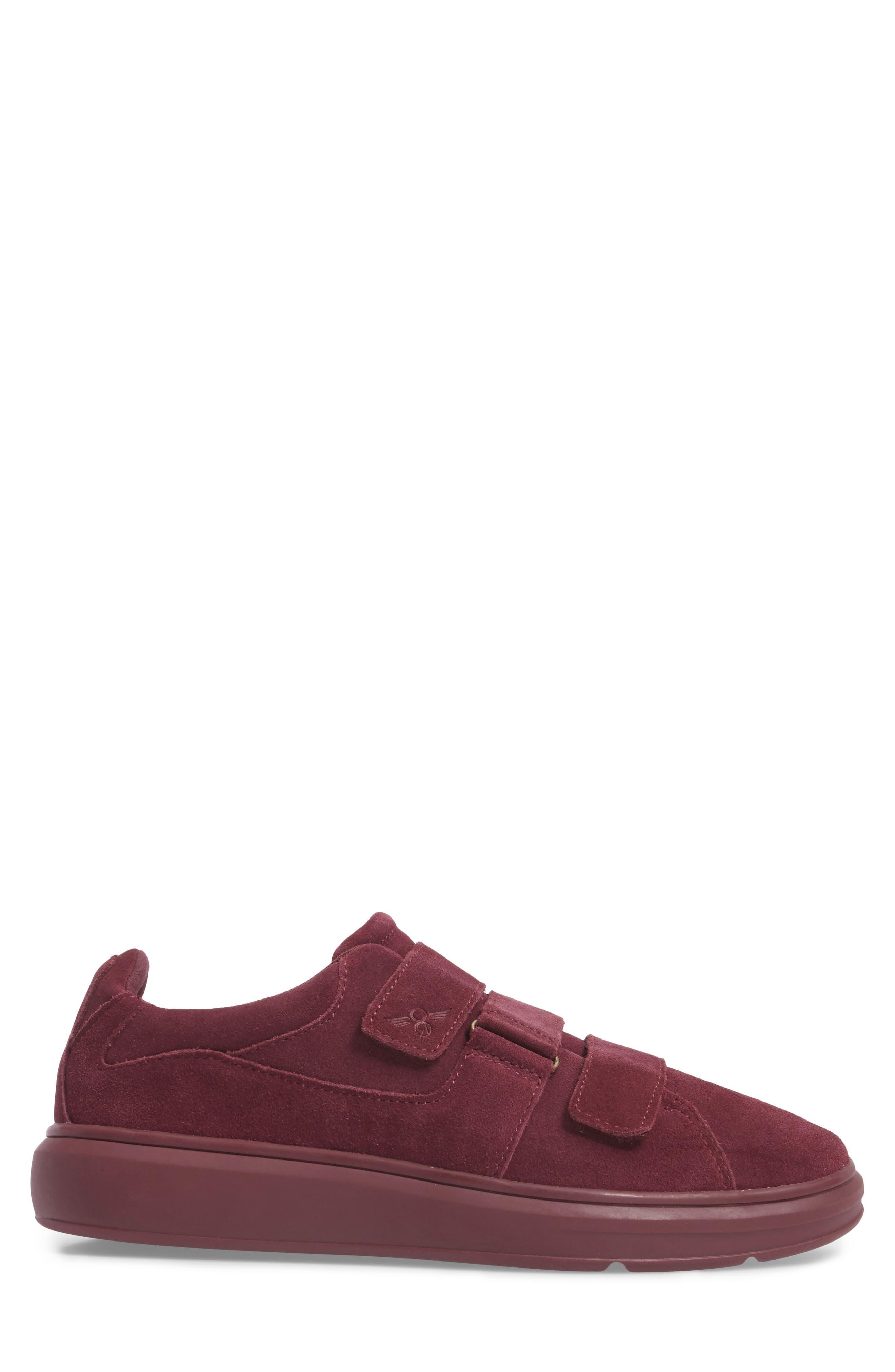 Meleti Sneaker,                             Alternate thumbnail 3, color,                             Dark Burgundy Leather
