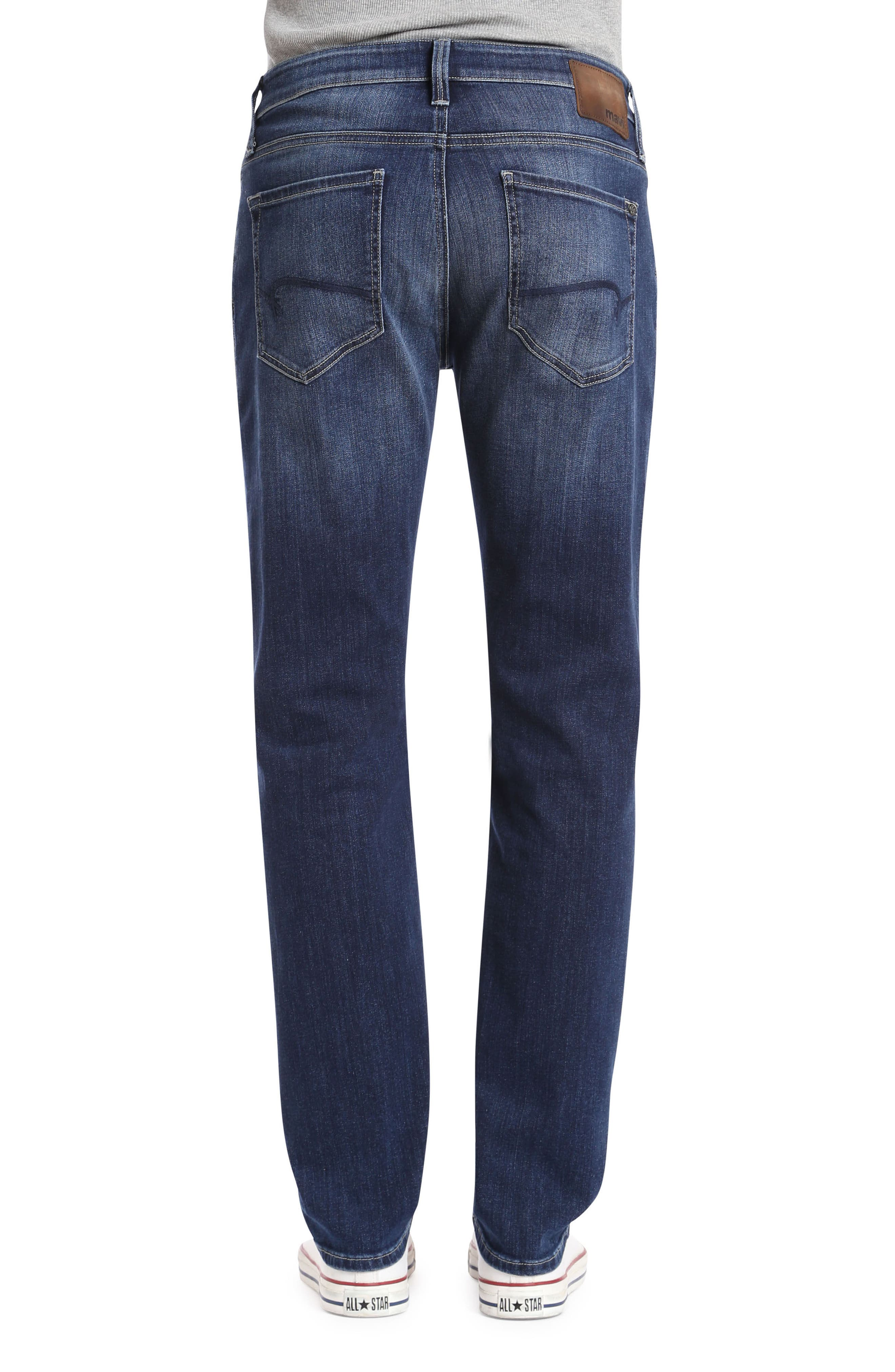 Marcus Slim Straight Leg Jeans,                             Alternate thumbnail 2, color,                             Dark Blue Williamsburg
