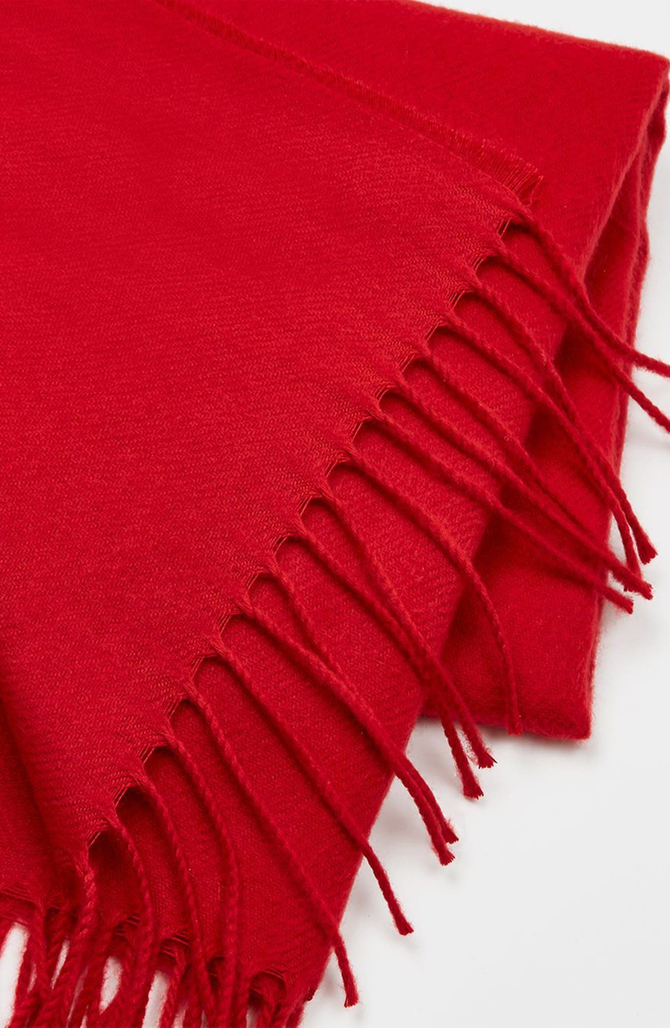Fargo Scarf,                             Alternate thumbnail 4, color,                             Red