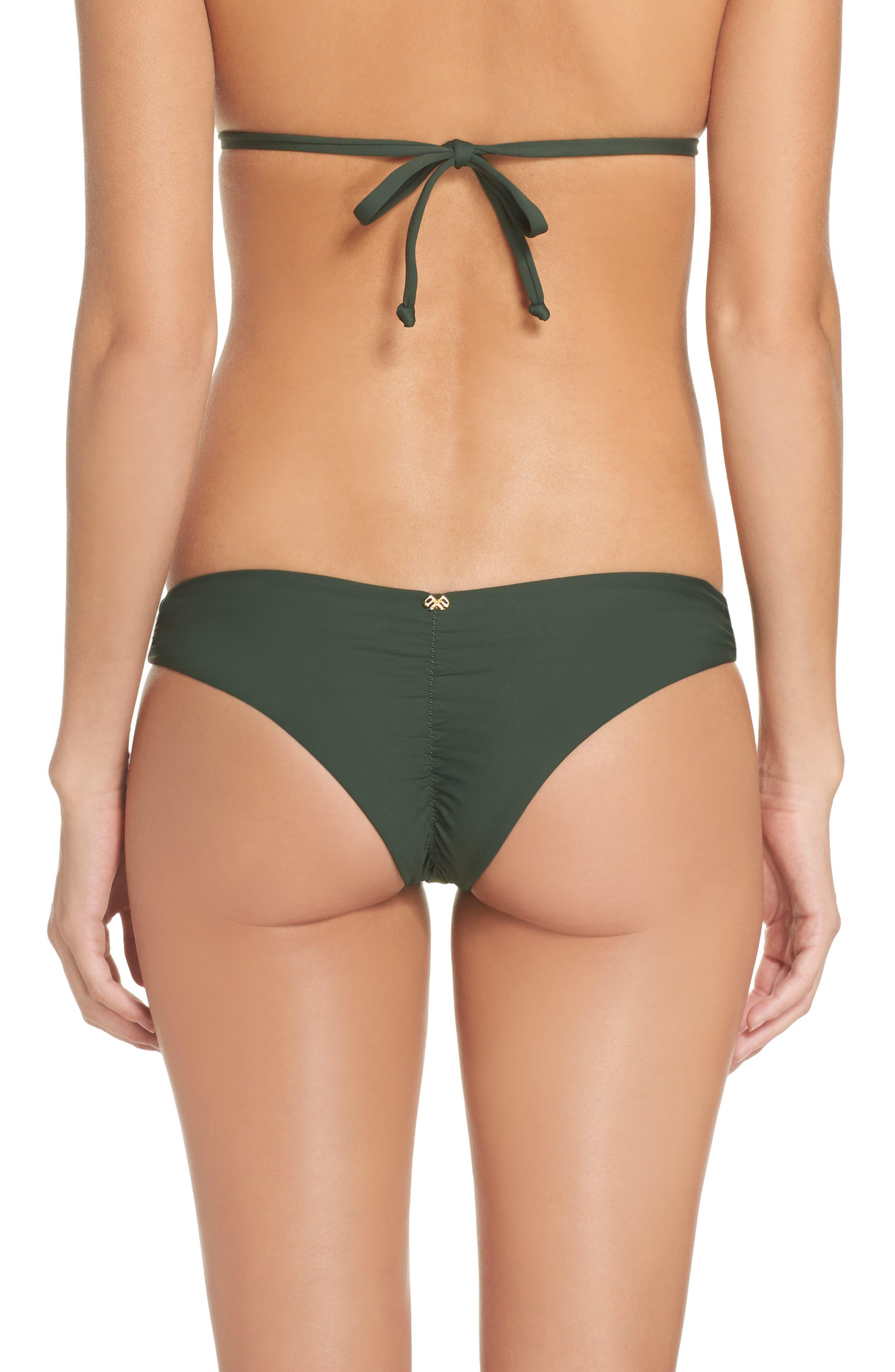 Ruched Bikini Bottoms,                             Main thumbnail 1, color,                             Army