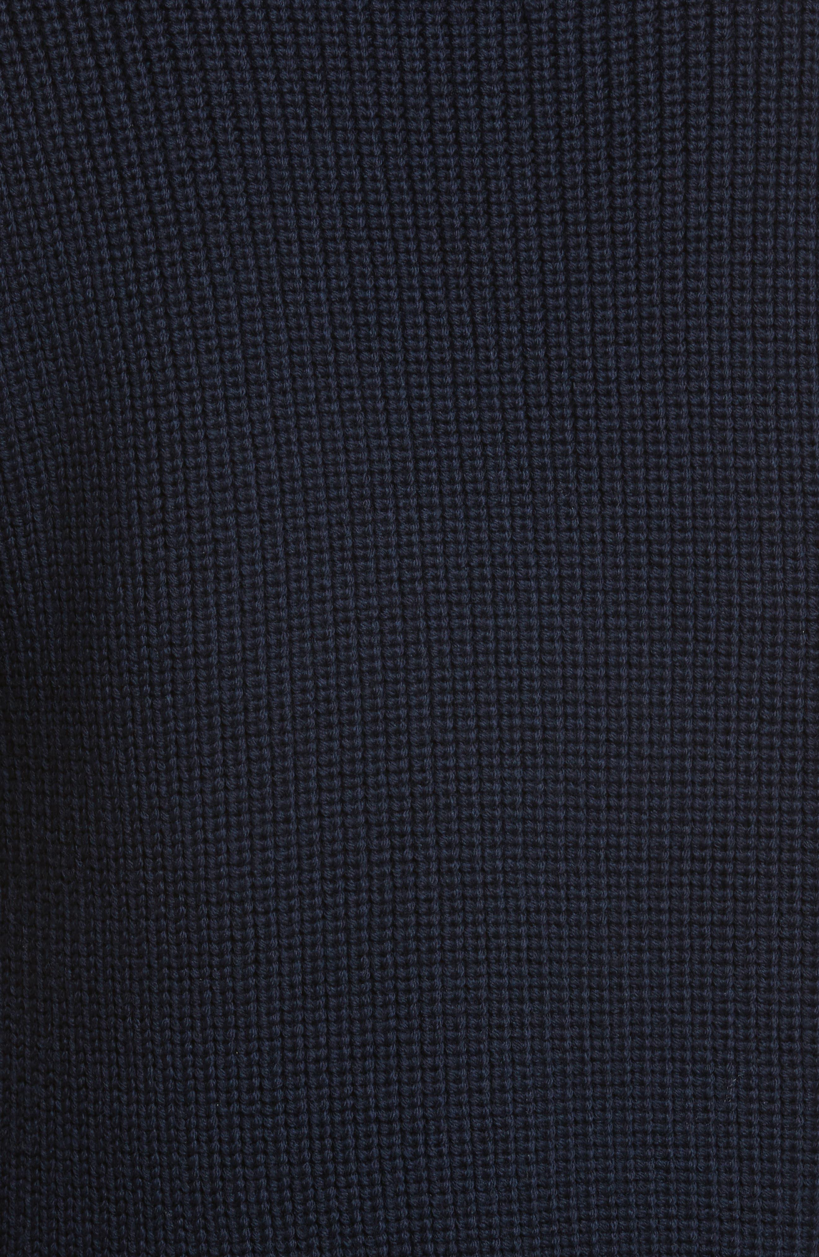 Ruffle Wool Sweater,                             Alternate thumbnail 5, color,                             Navy