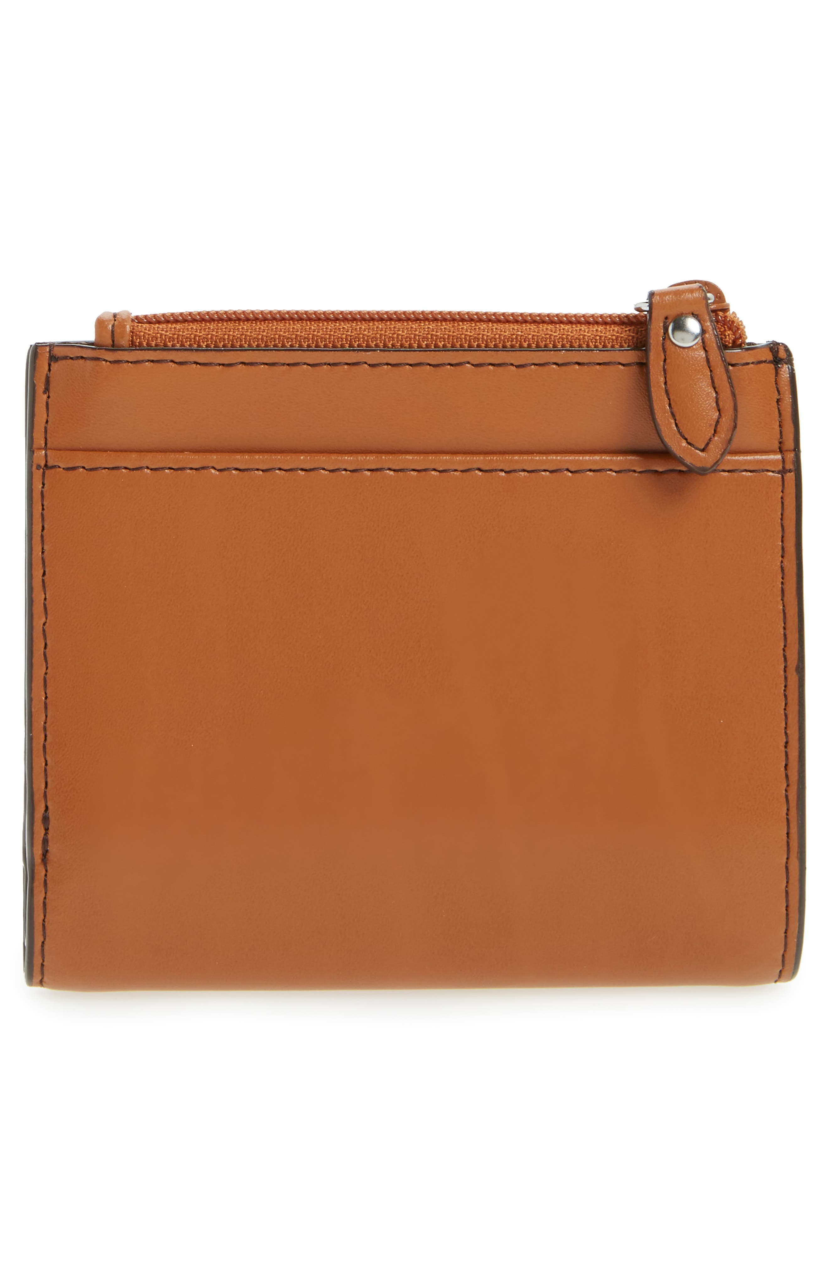 Audrey Under Lock & Key Aldis Leather Wallet,                             Alternate thumbnail 3, color,                             Toffee
