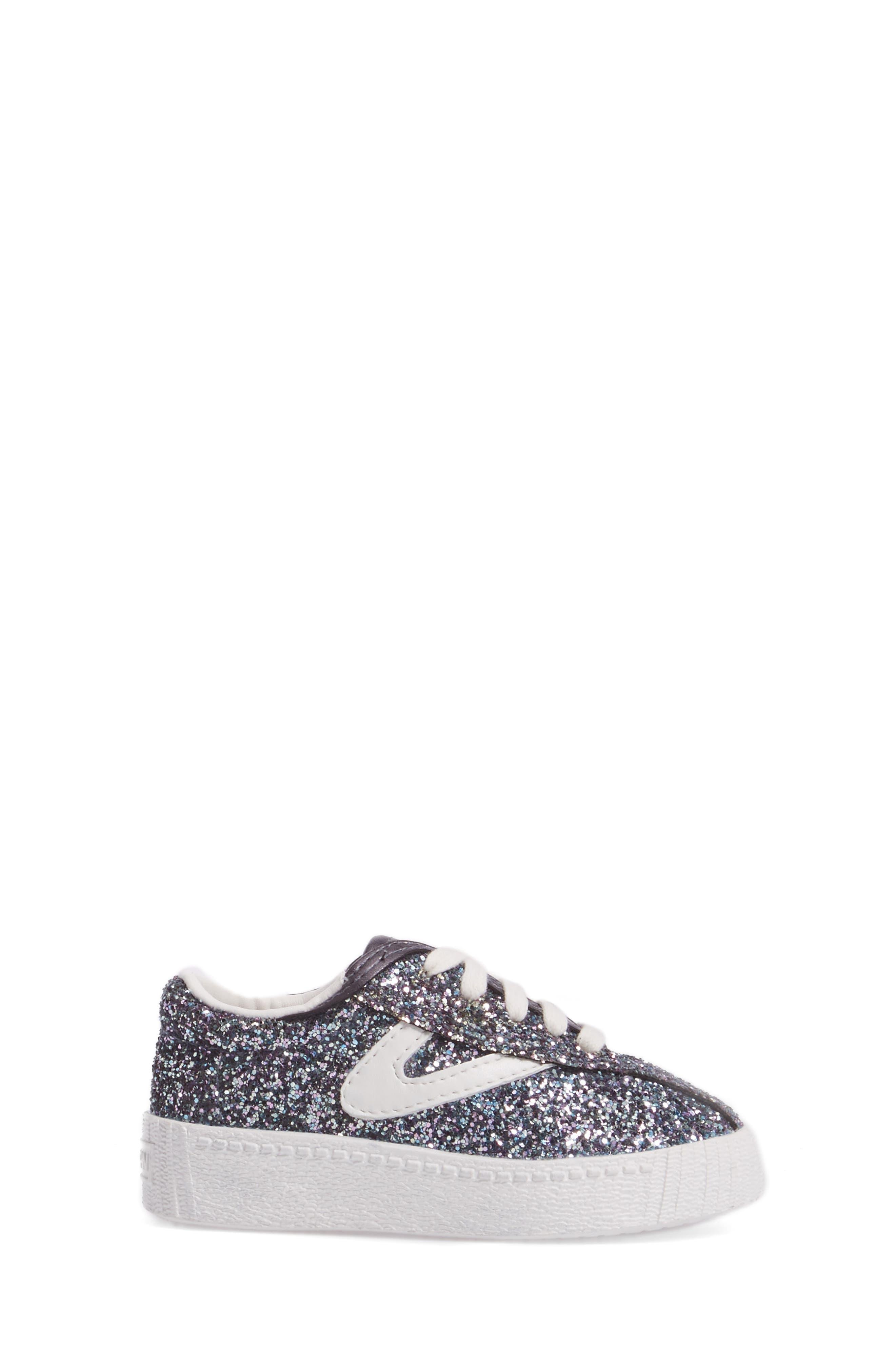 Nylite Sugar Glitter Sneaker,                             Alternate thumbnail 3, color,                             Dark Grey Glitter