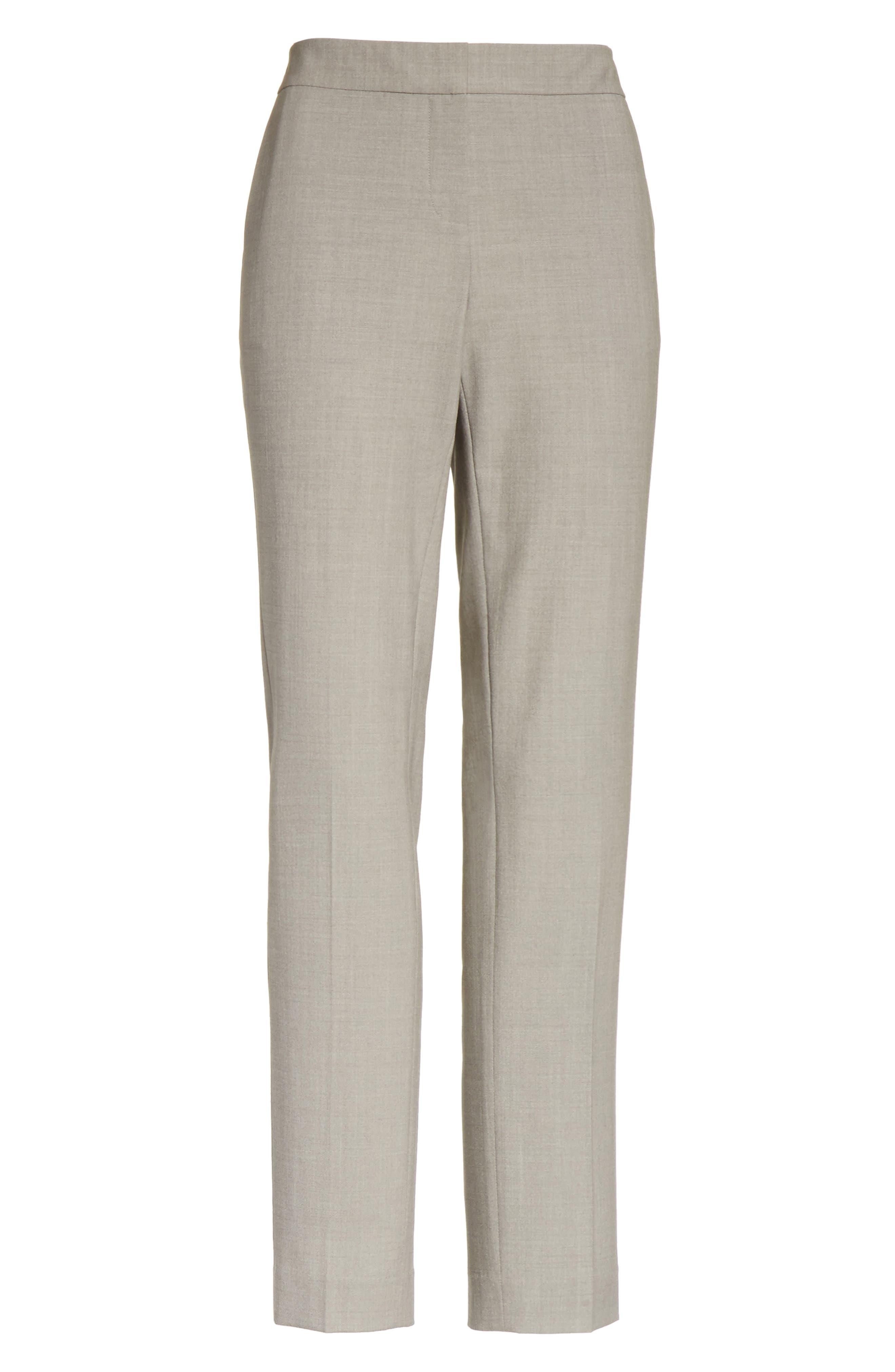 Manhattan Slim Pants,                             Alternate thumbnail 7, color,                             Feather Grey Melange