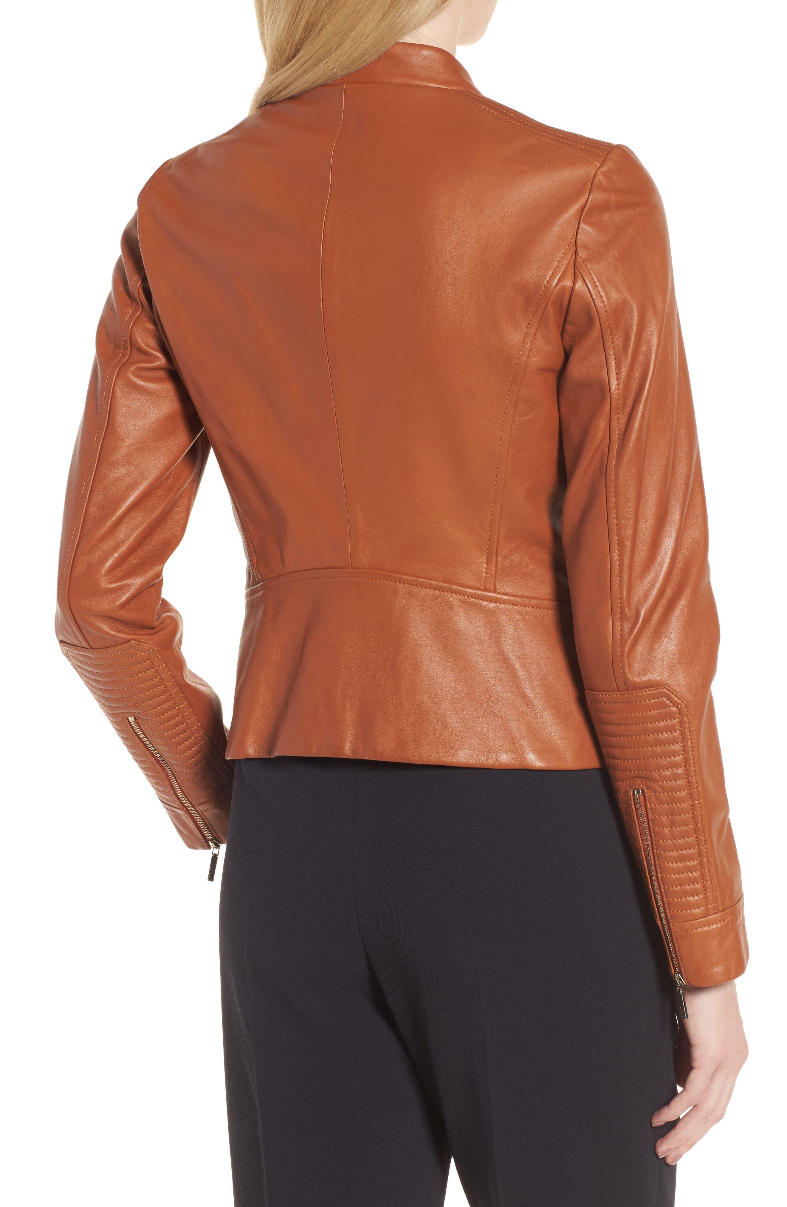 Alternate Image 2  - BOSS Sabiza Leather Jacket