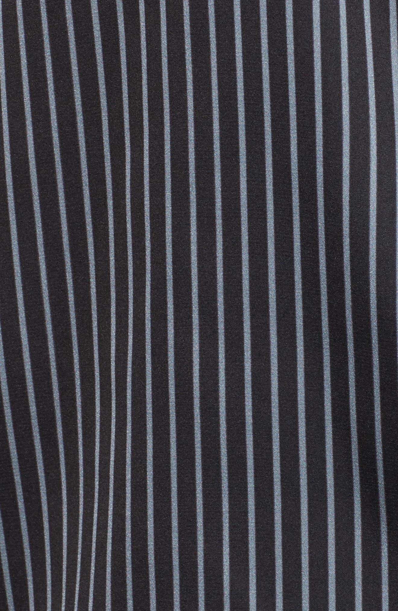 Alternate Image 5  - Bed to Brunch Pinstripe Crop Pajamas