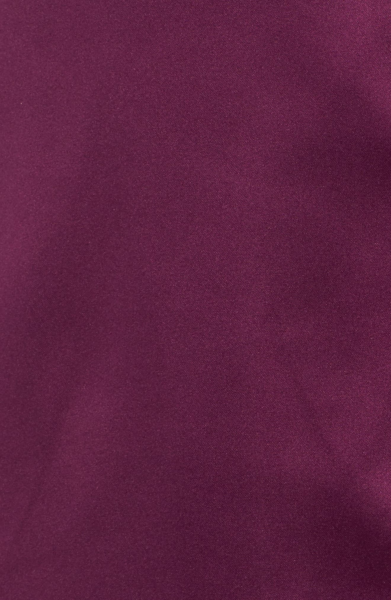 Satin Pajamas,                             Alternate thumbnail 5, color,                             Purple Dark