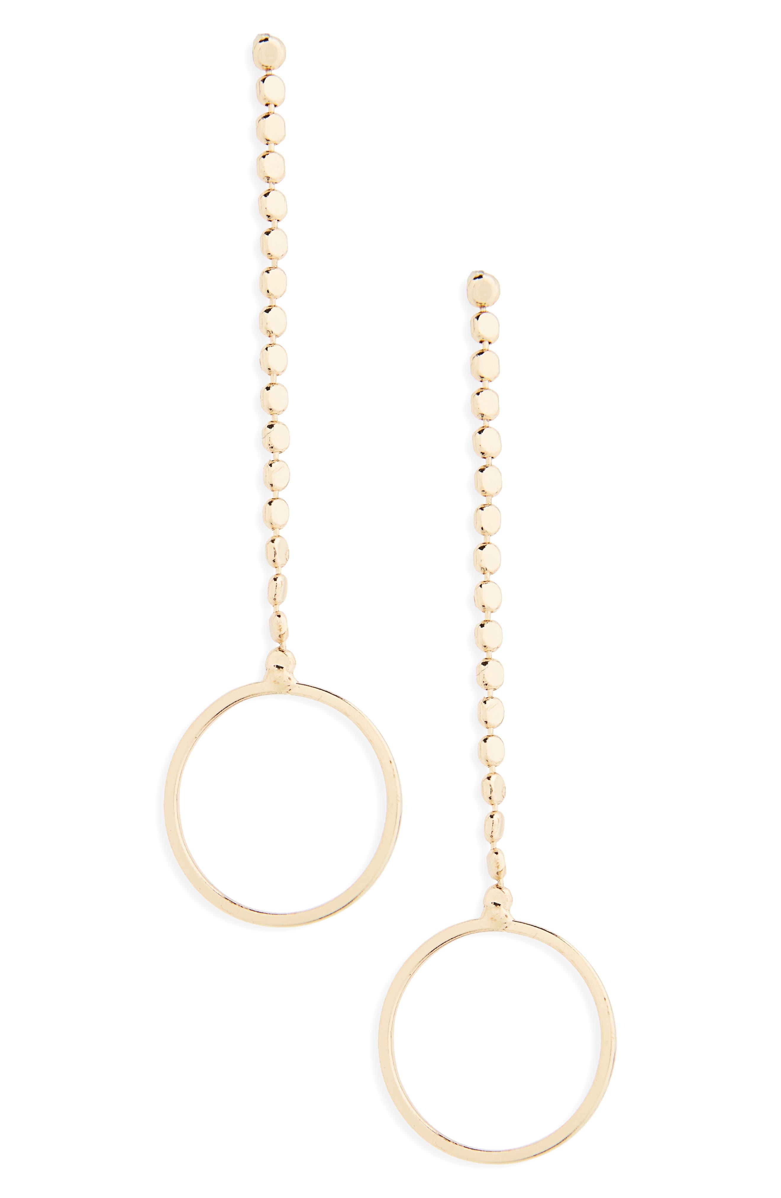 BP. Circle Charm Drop Earrings