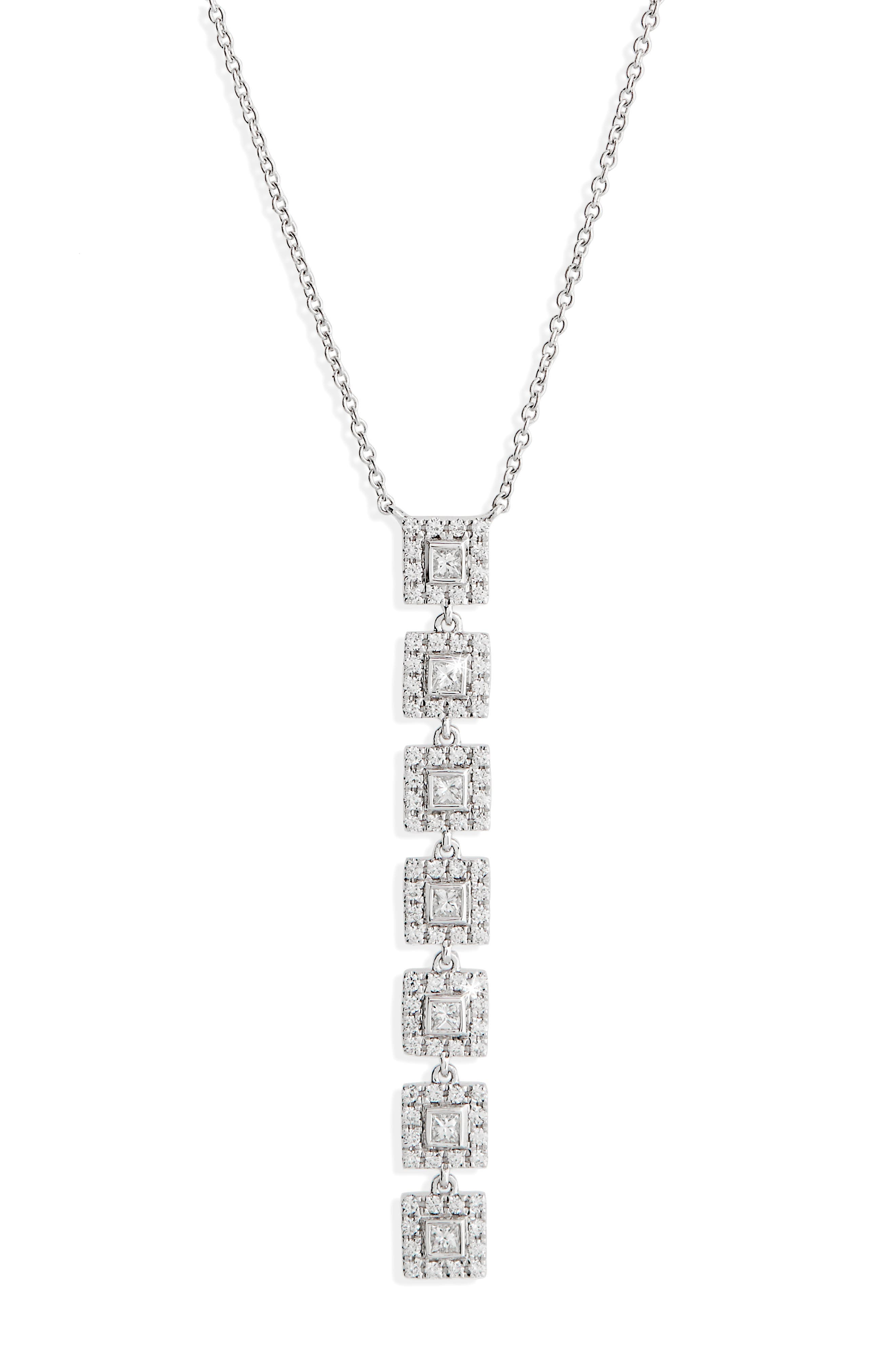 Amara Diamond Pendant Necklace,                         Main,                         color, White Gold