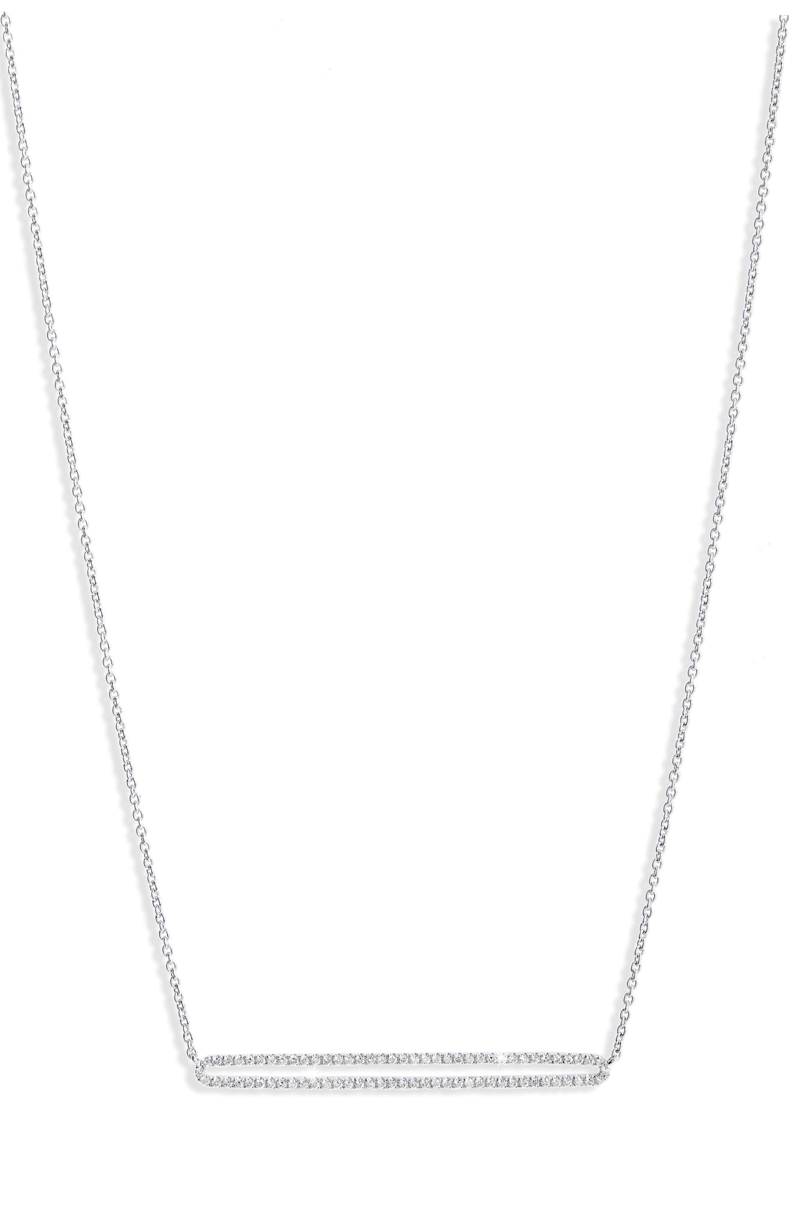 Main Image - Bony Levy Geo Diamond Pendant Necklace (Nordstrom Exclusive)