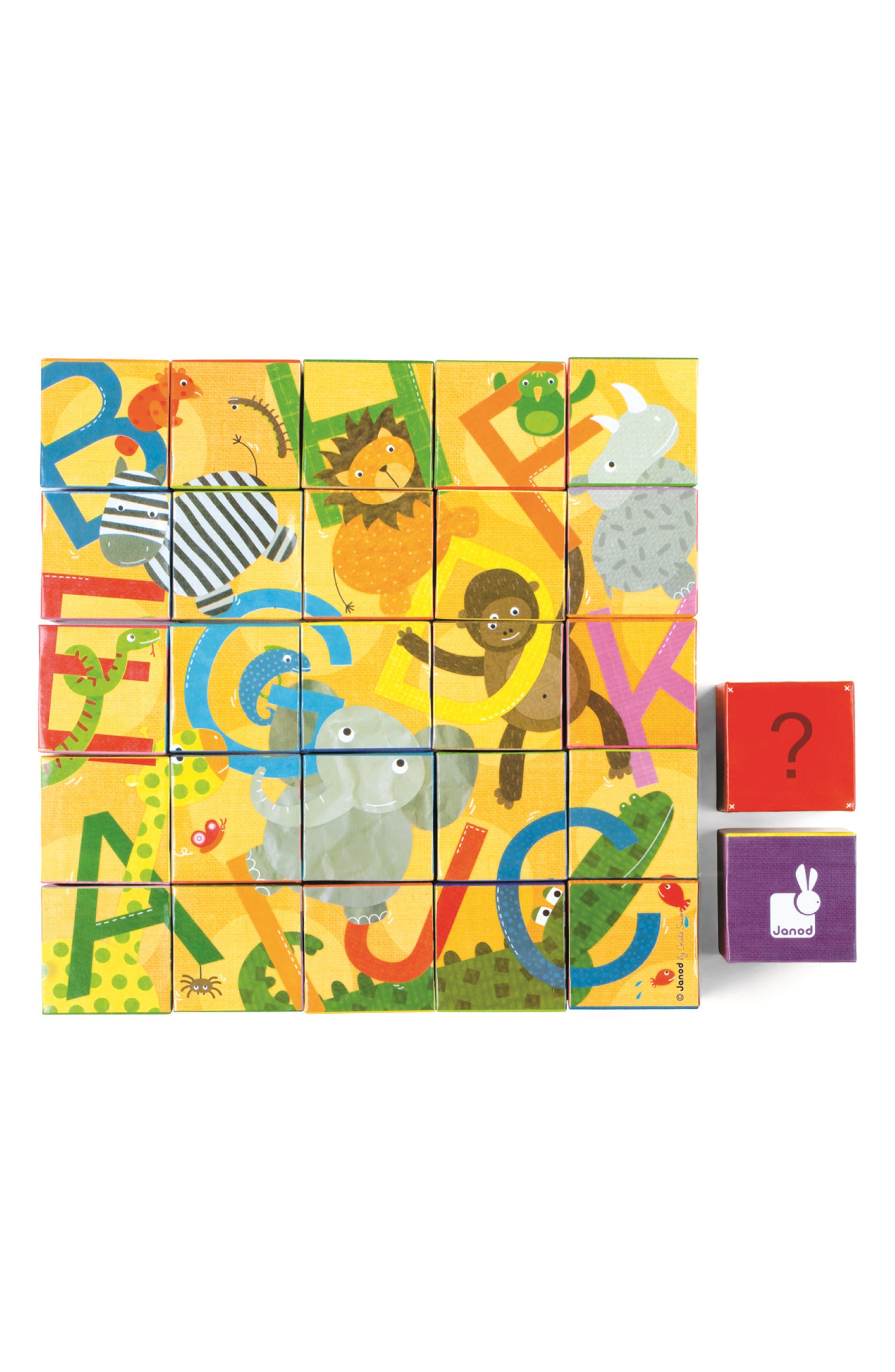 Kubkid 32-Piece Block Set,                             Alternate thumbnail 3, color,                             Orange Multi
