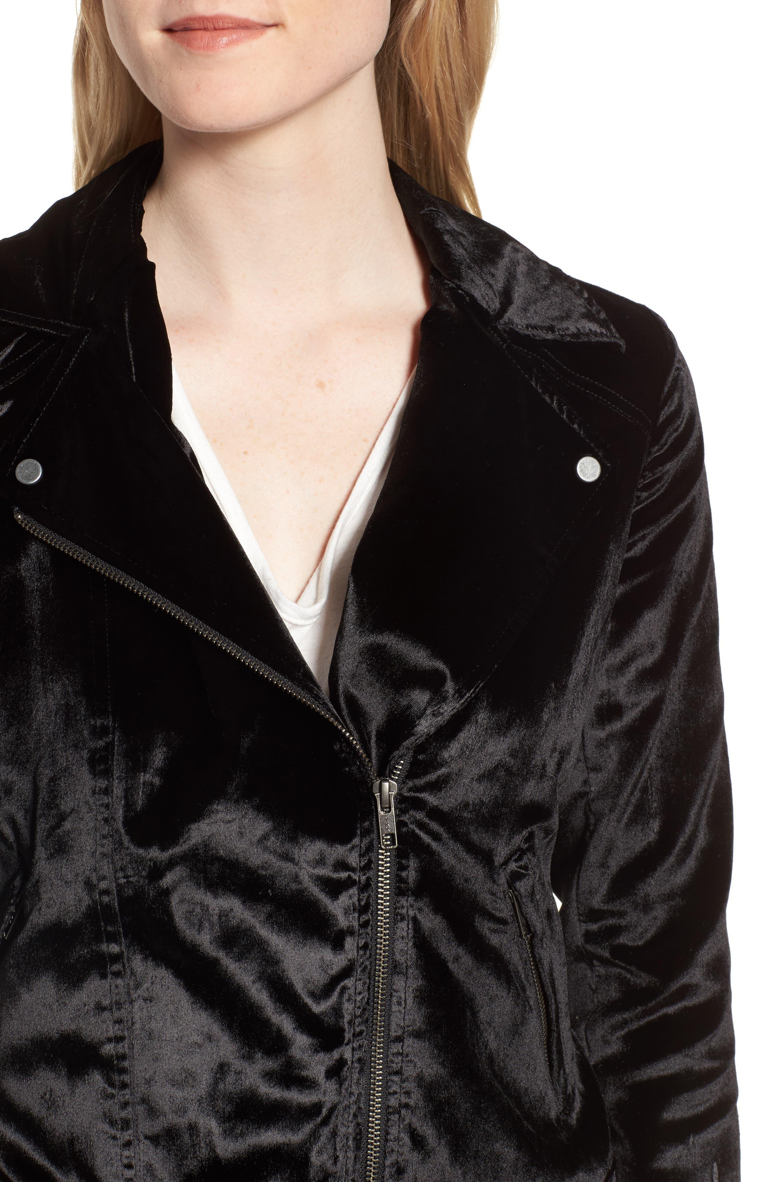 Alternate Image 4  - Trouvé Velvet Moto Jacket