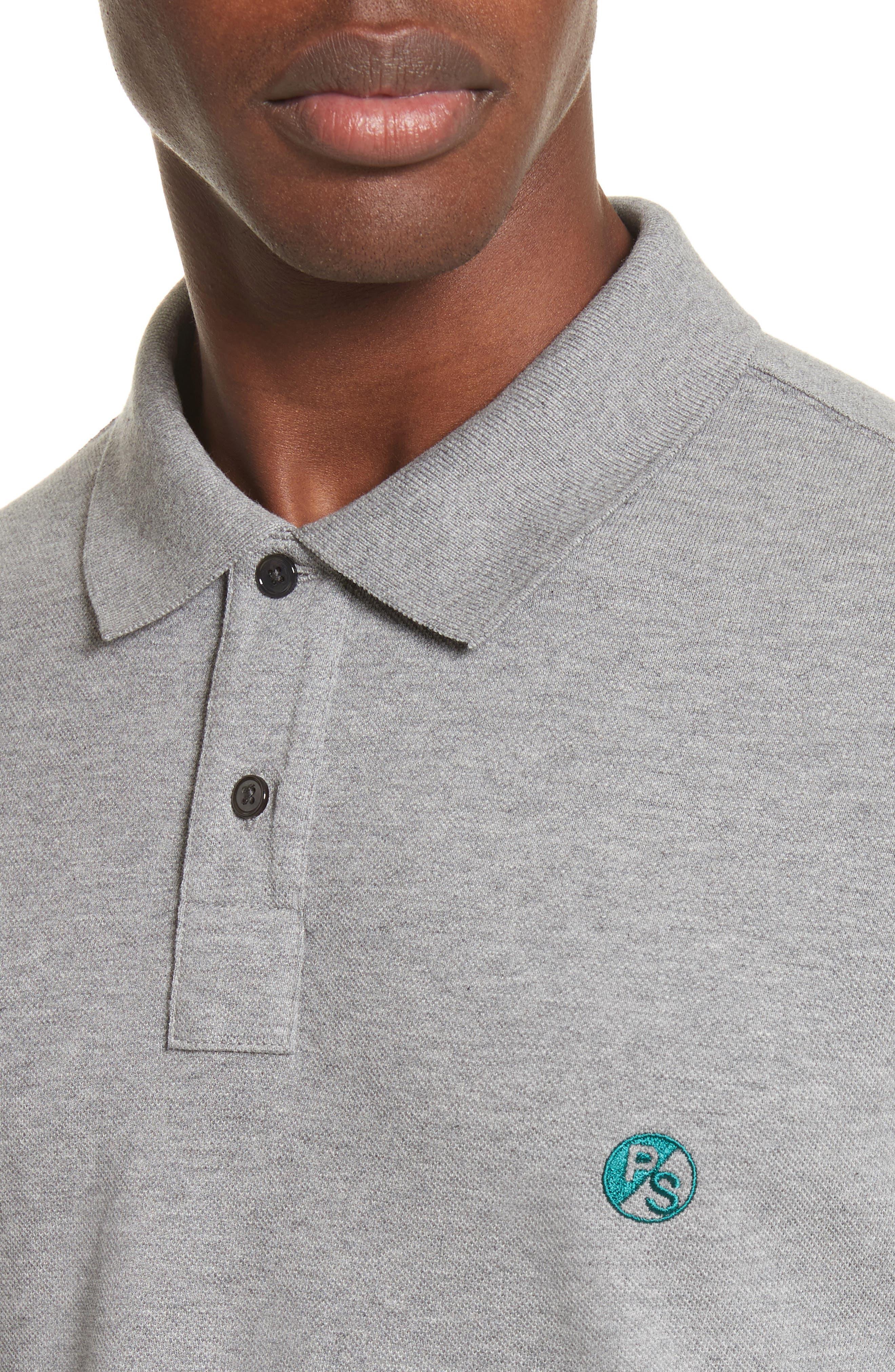 PS Logo Piqué Polo,                             Alternate thumbnail 4, color,                             Grey
