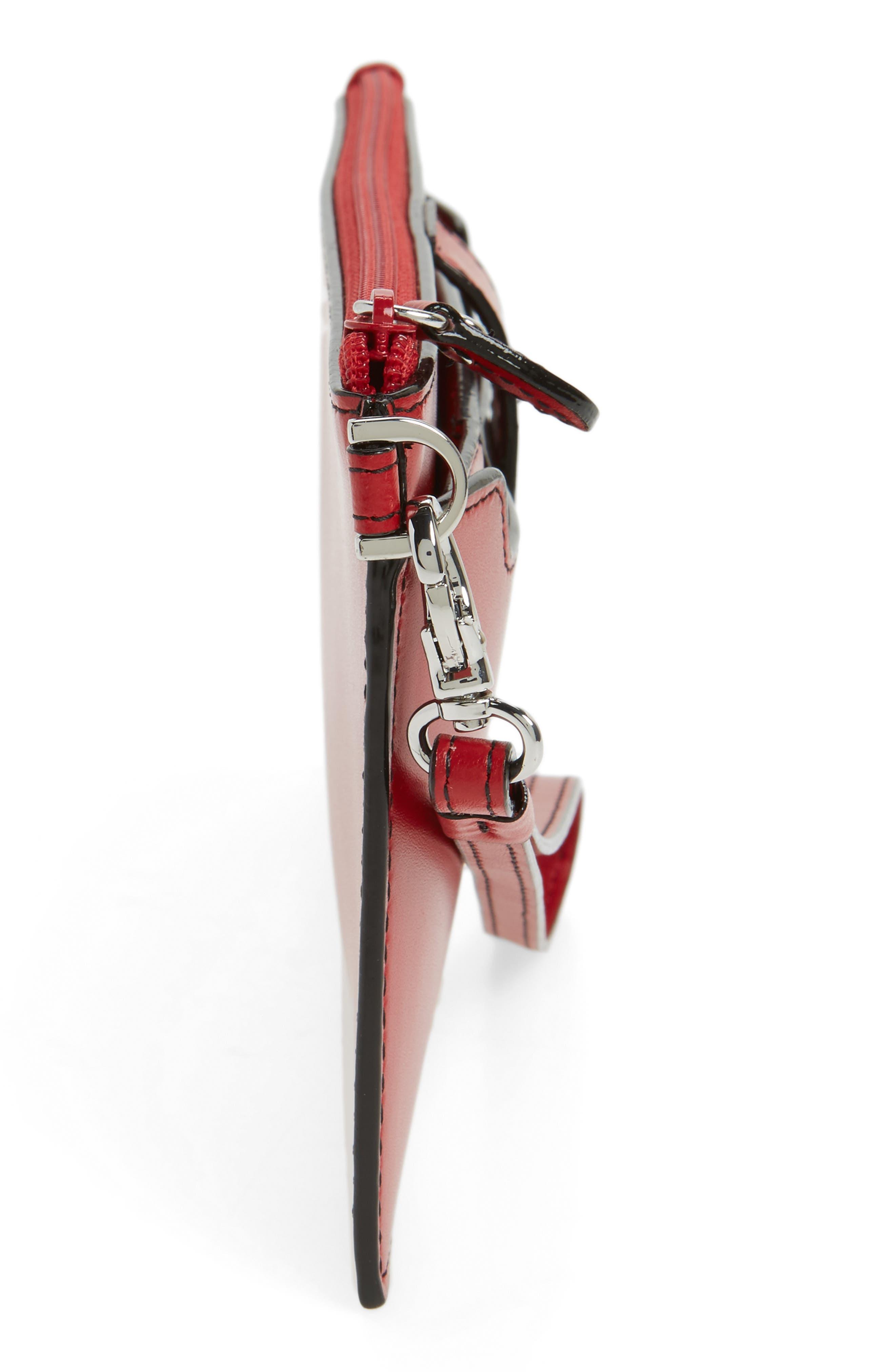 Audrey Under Lock & Key Queenie Wallet,                             Alternate thumbnail 5, color,                             Red