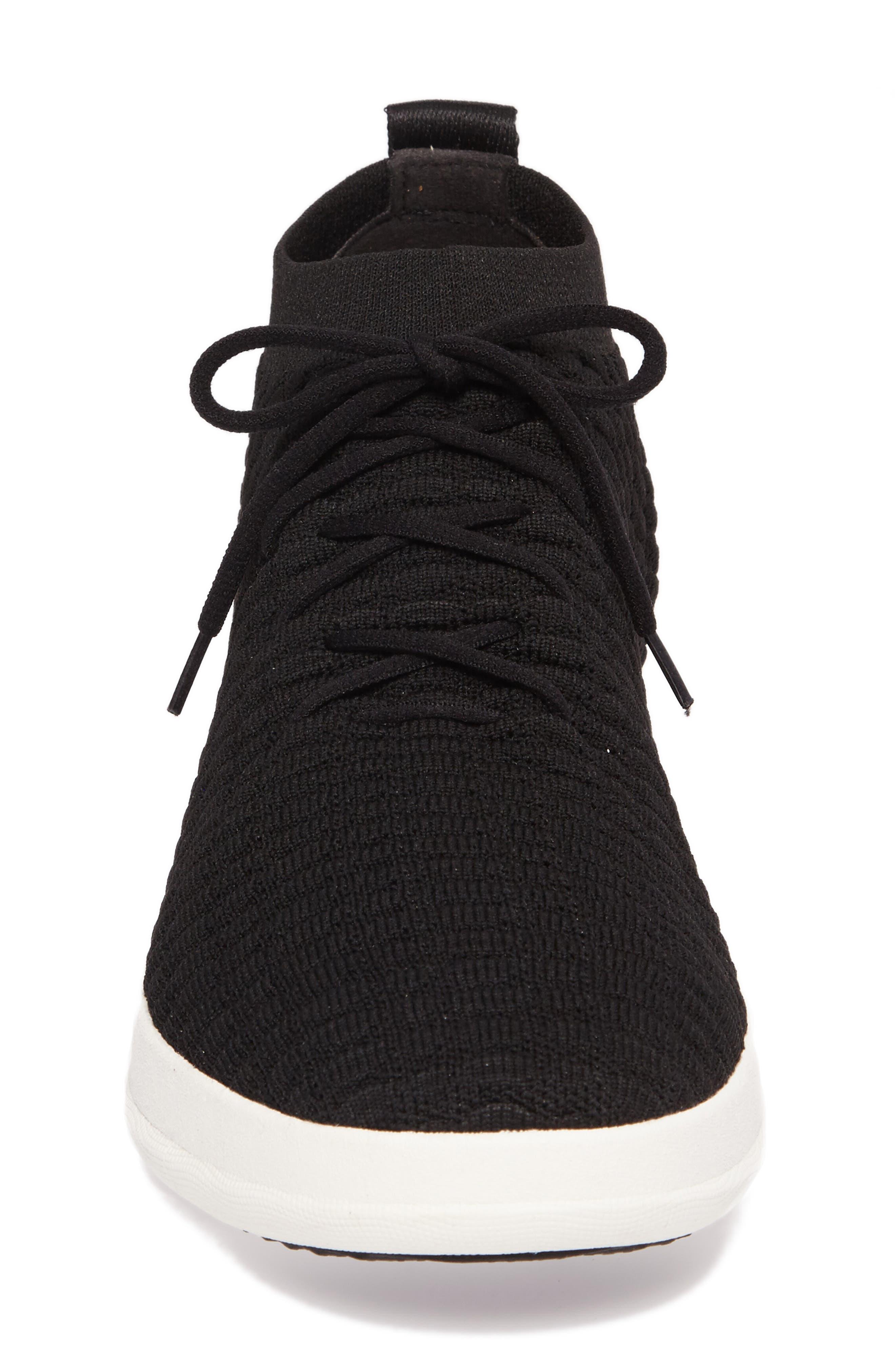 Uberknit Sneaker,                             Alternate thumbnail 4, color,                             Black Textile
