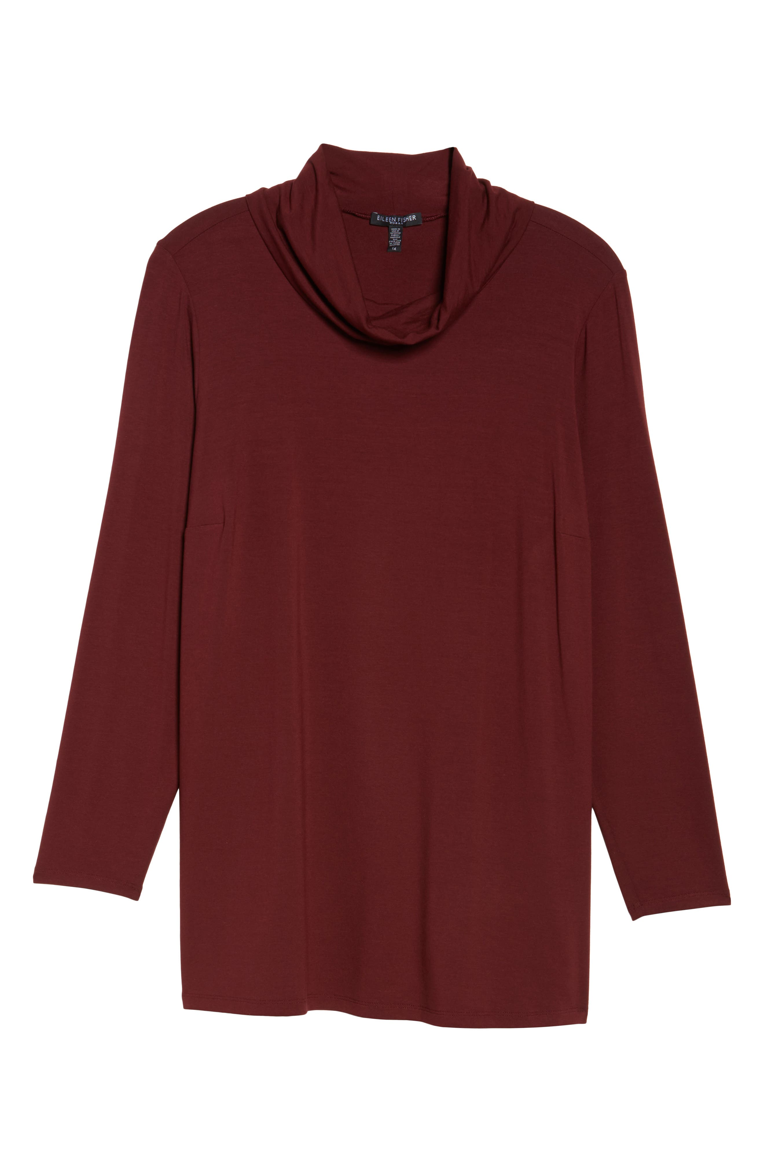 Alternate Image 6  - Eileen Fisher Turtleneck Jersey Top (Plus Size)