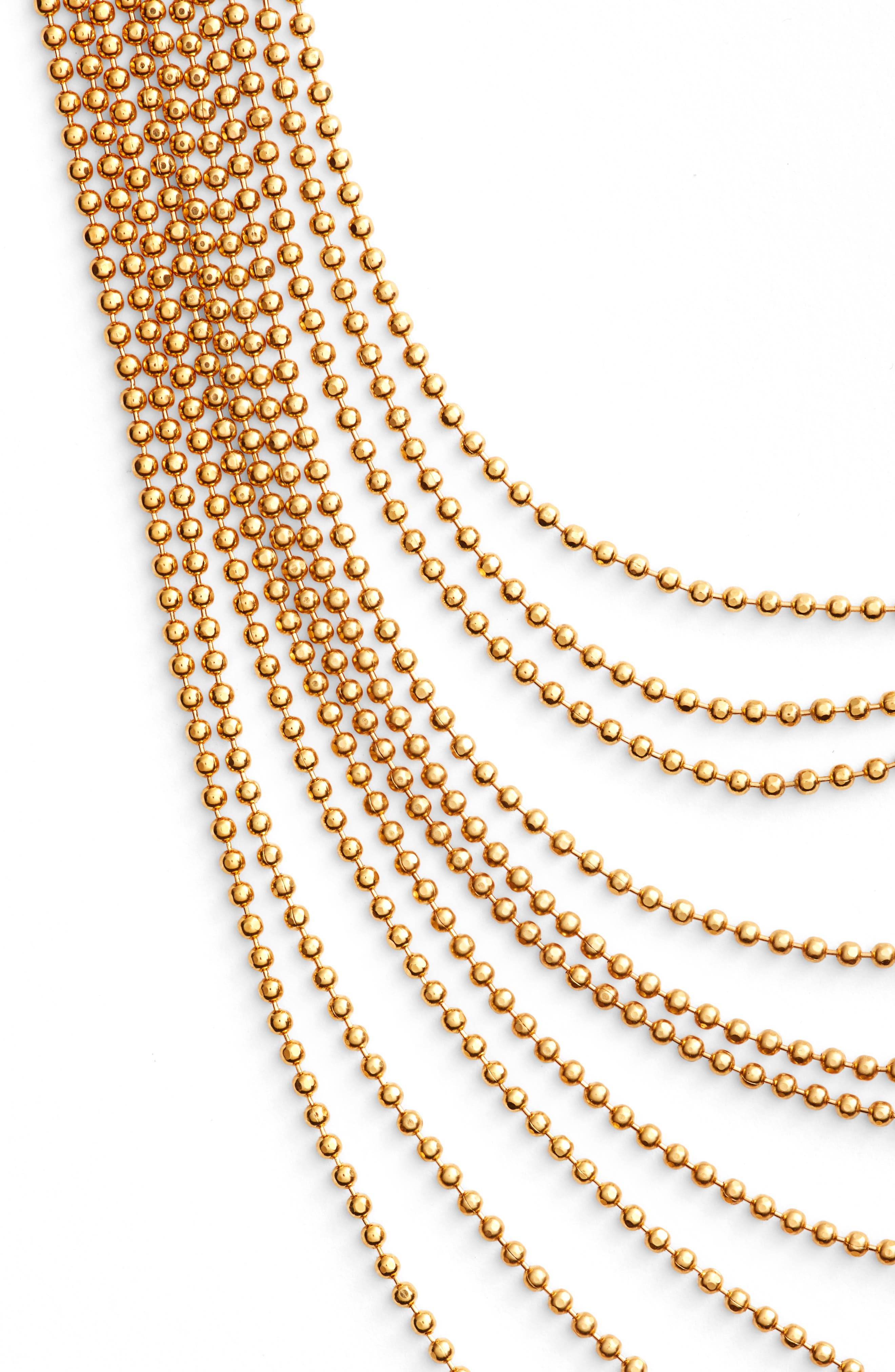 Romeo Mulistrand Necklace,                             Alternate thumbnail 2, color,                             Gold