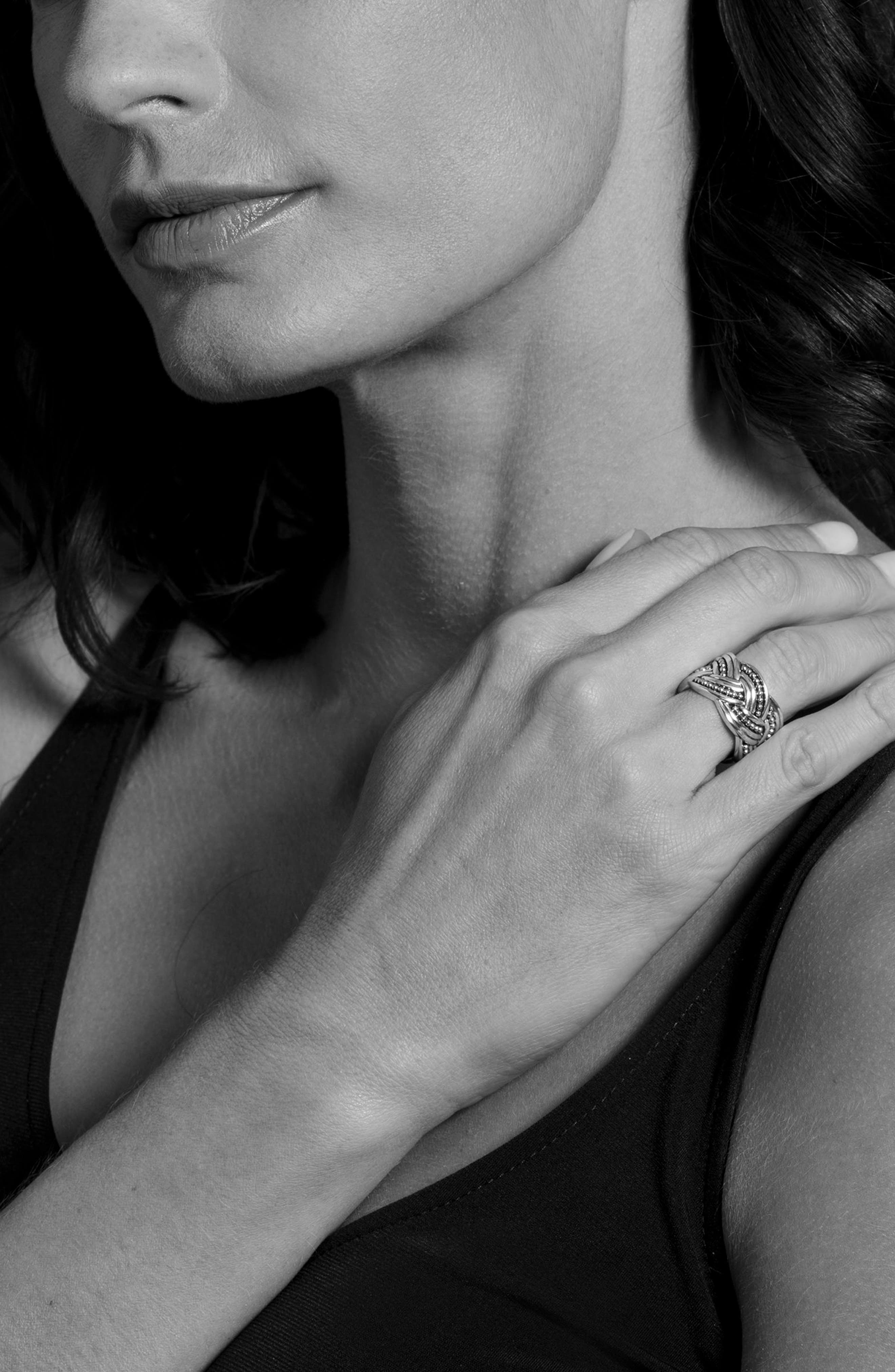 Torsade Knot Ring,                             Alternate thumbnail 2, color,                             Silver/ Gold