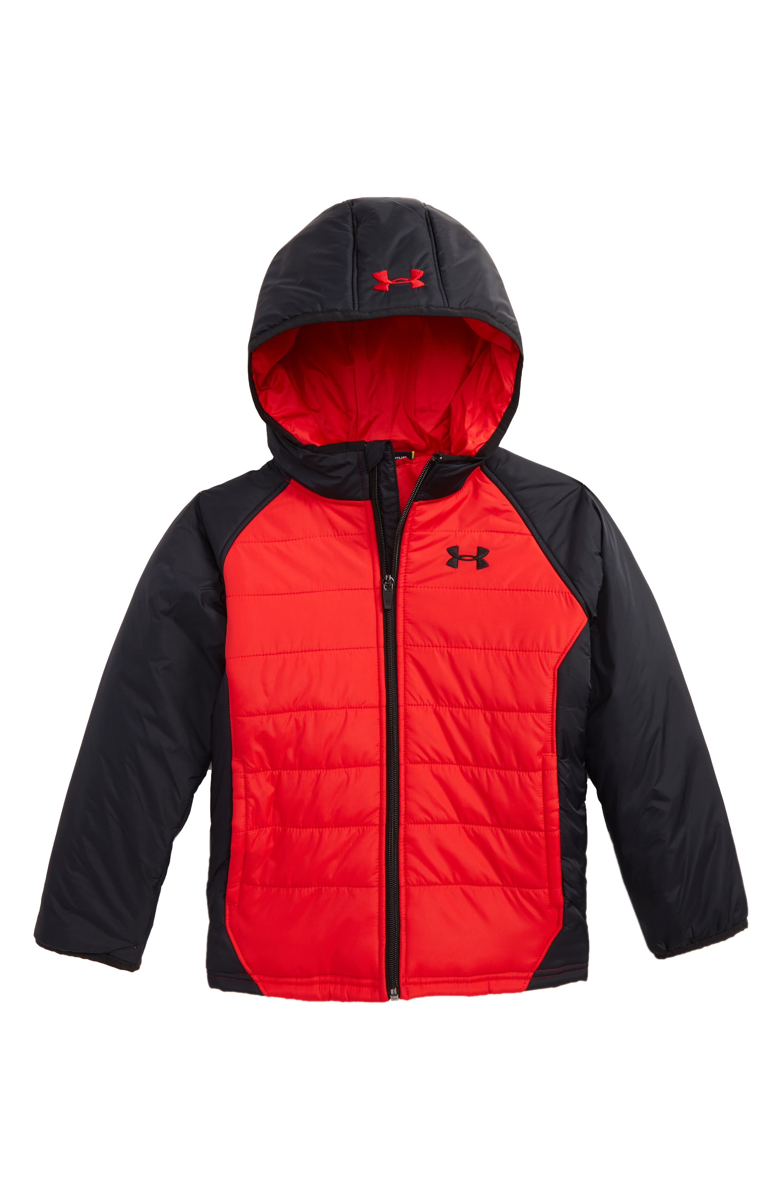 Alternate Image 1 Selected - Under Armour Werewolf Water Resistant ColdGear® Hooded Puffer Jacket (Toddler Boys & Little Boys)
