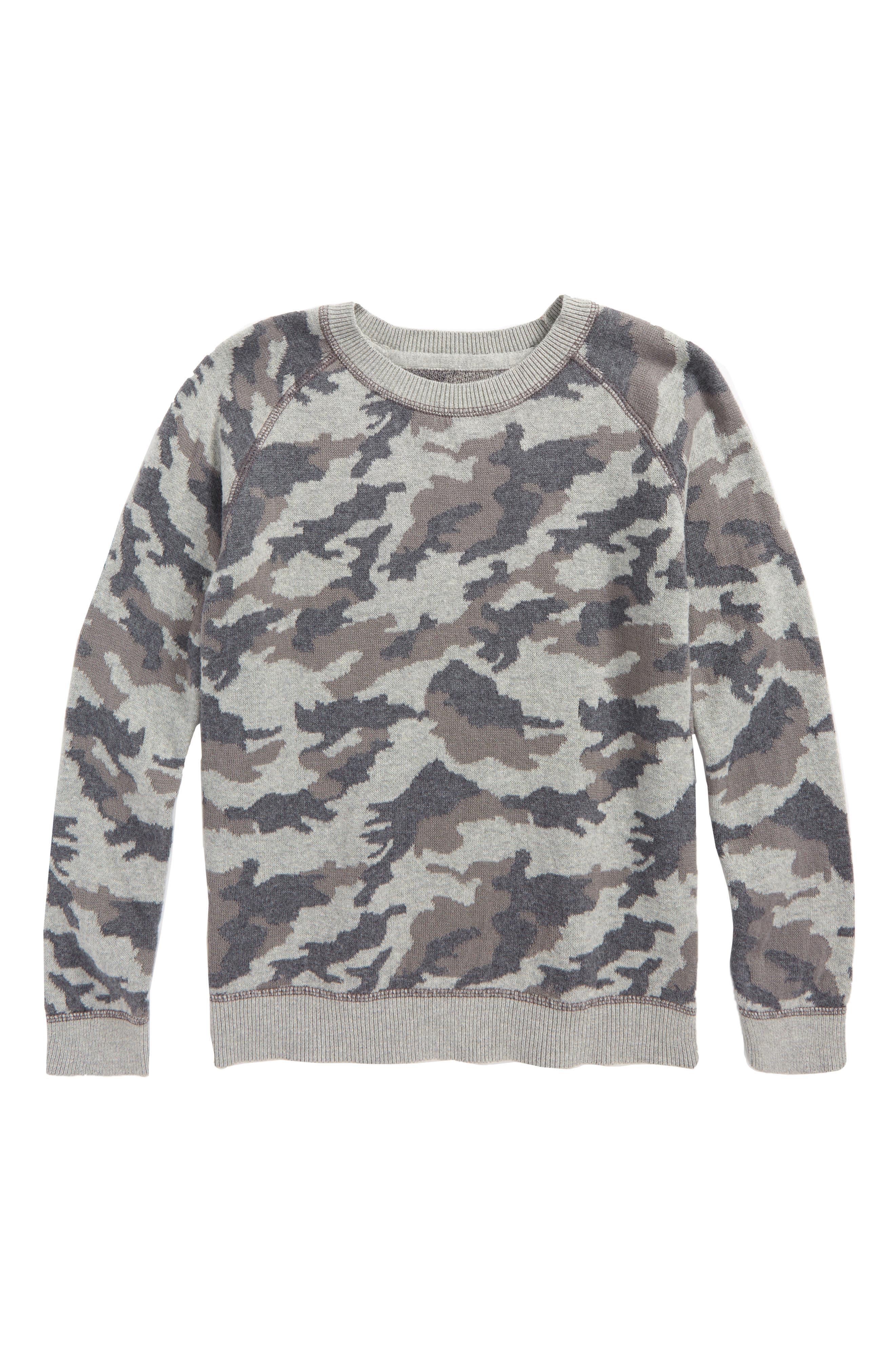 Alternate Image 1 Selected - Tucker + Tate Camo Print Sweater (Toddler Boys & Little Boys)