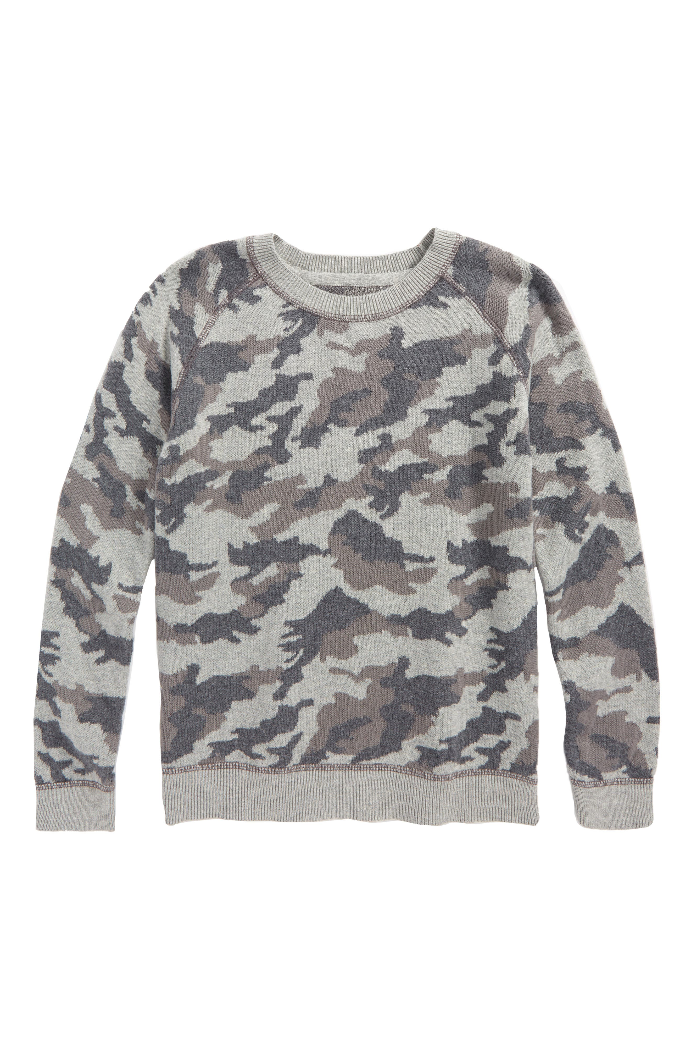 Camo Print Sweater,                         Main,                         color, Grey Alloy Camo
