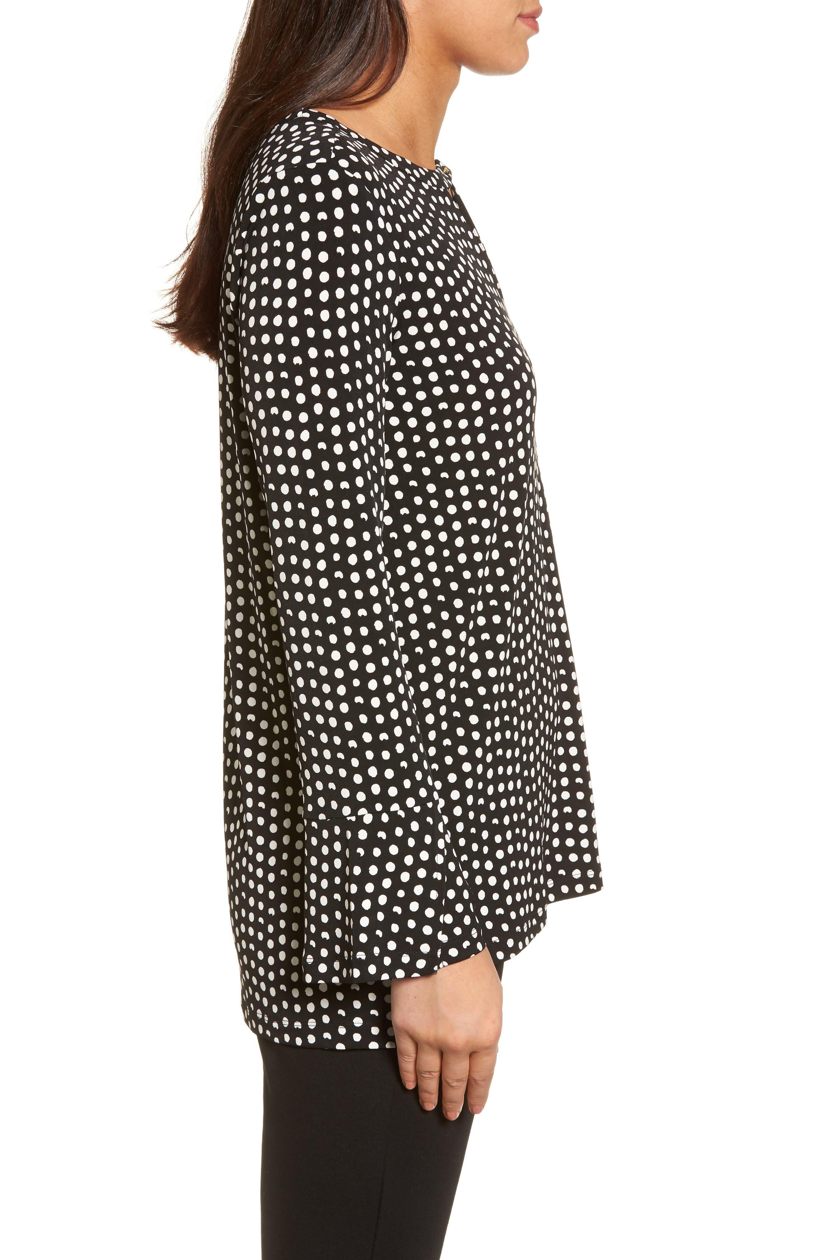 Alternate Image 3  - Chaus Polka Dot Matte Jersey Top