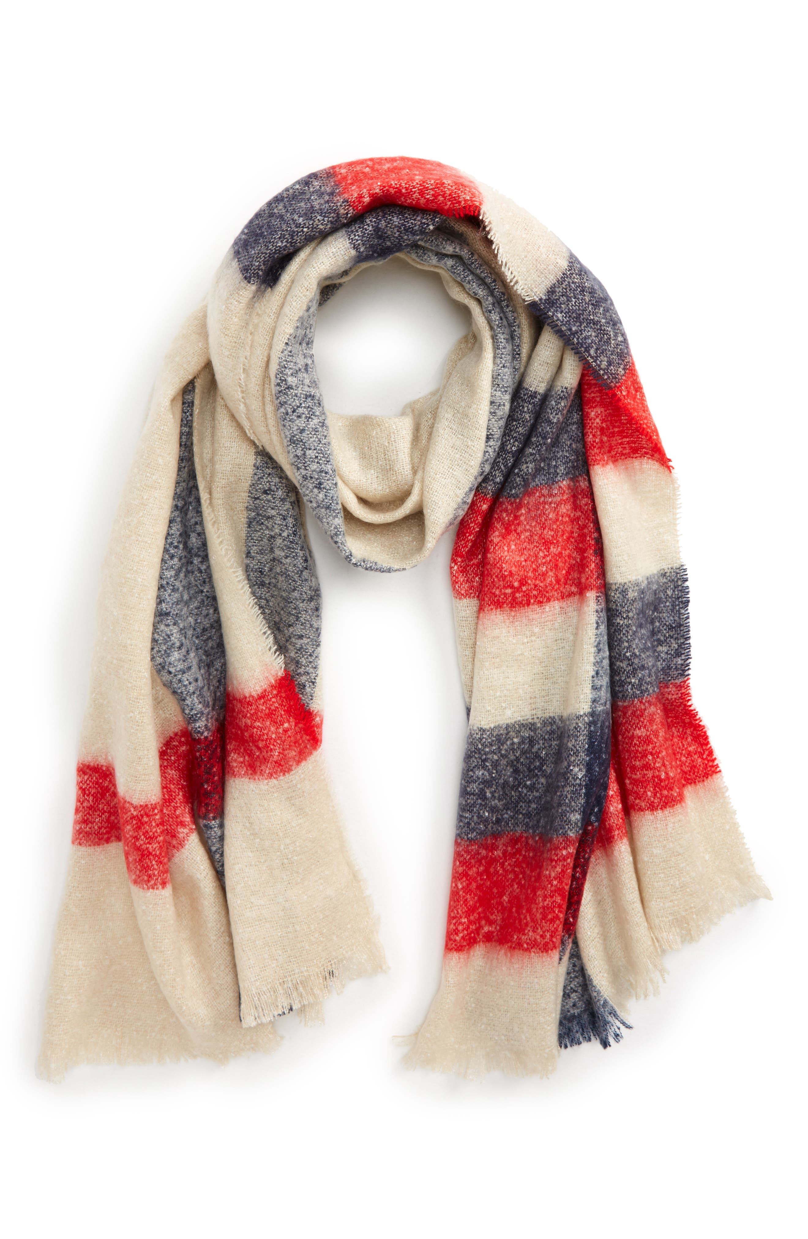BP. Pop Stripe Bouclé Scarf