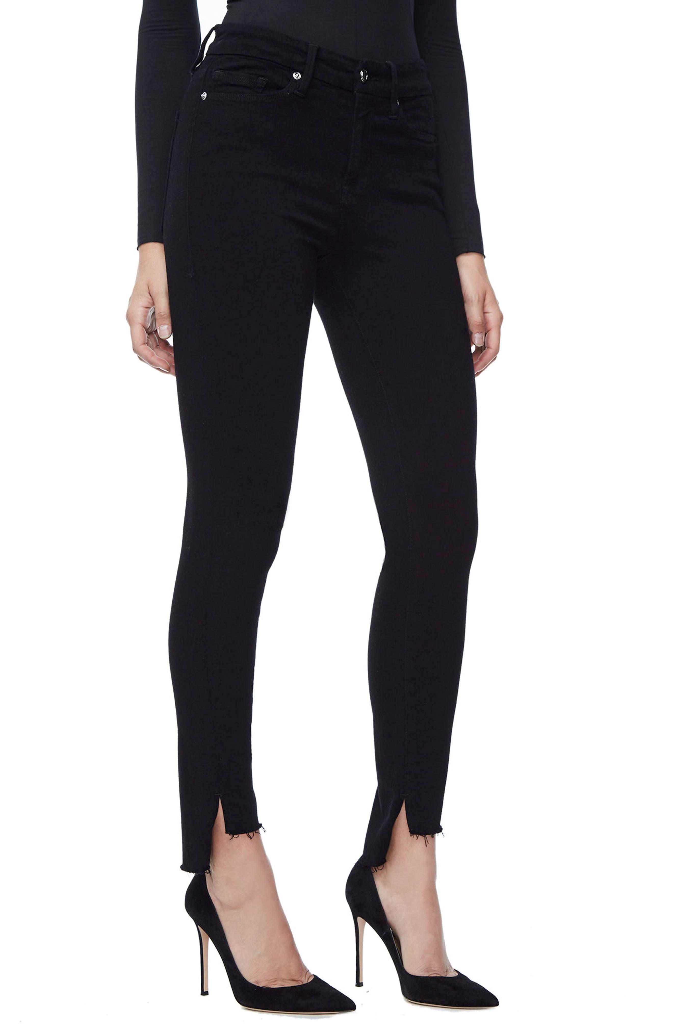 Good Legs High Waist Skinny Jeans,                             Alternate thumbnail 3, color,                             Black 001