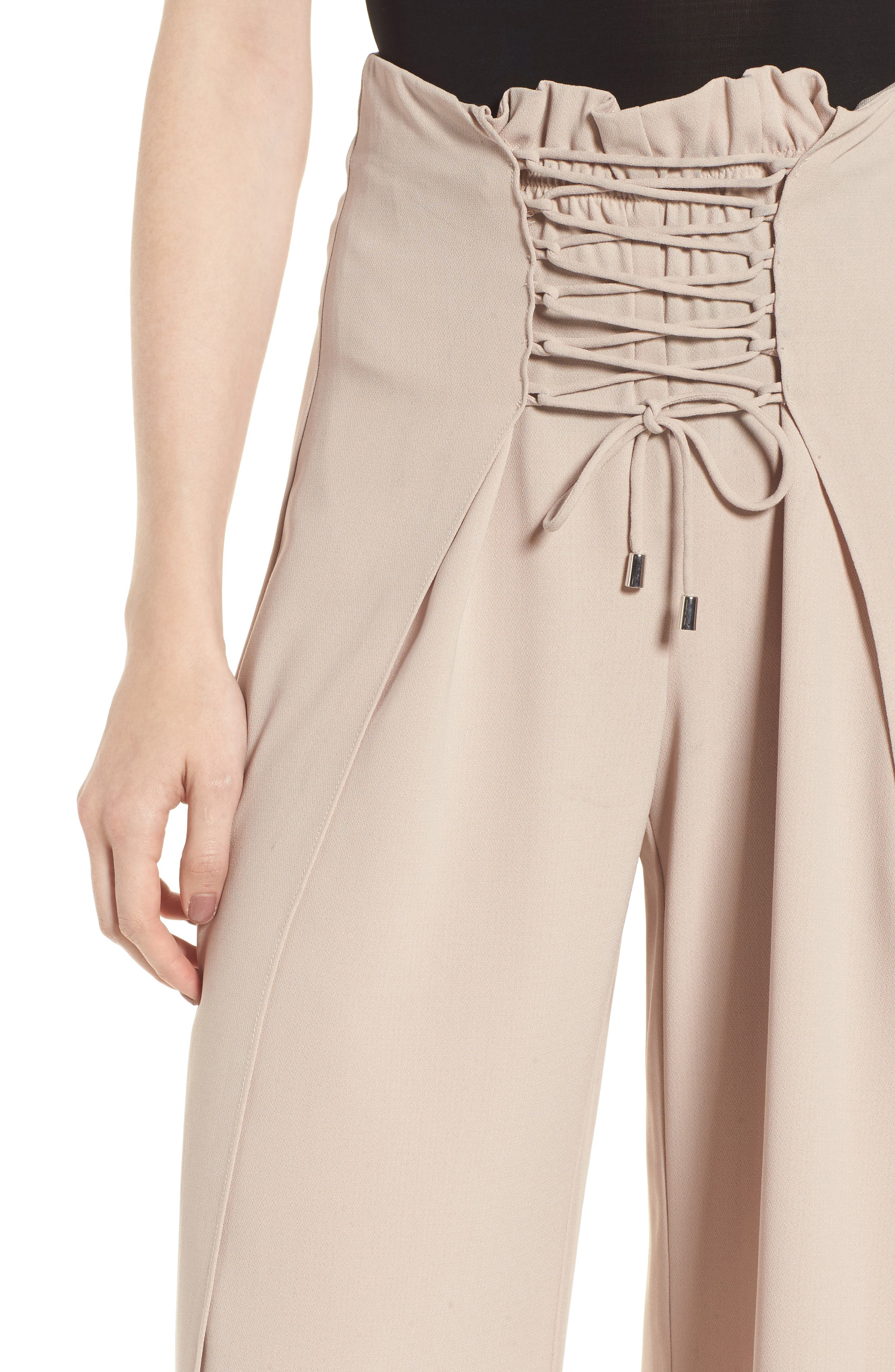 Alternate Image 4  - Bardot Corset Wide Leg Trousers