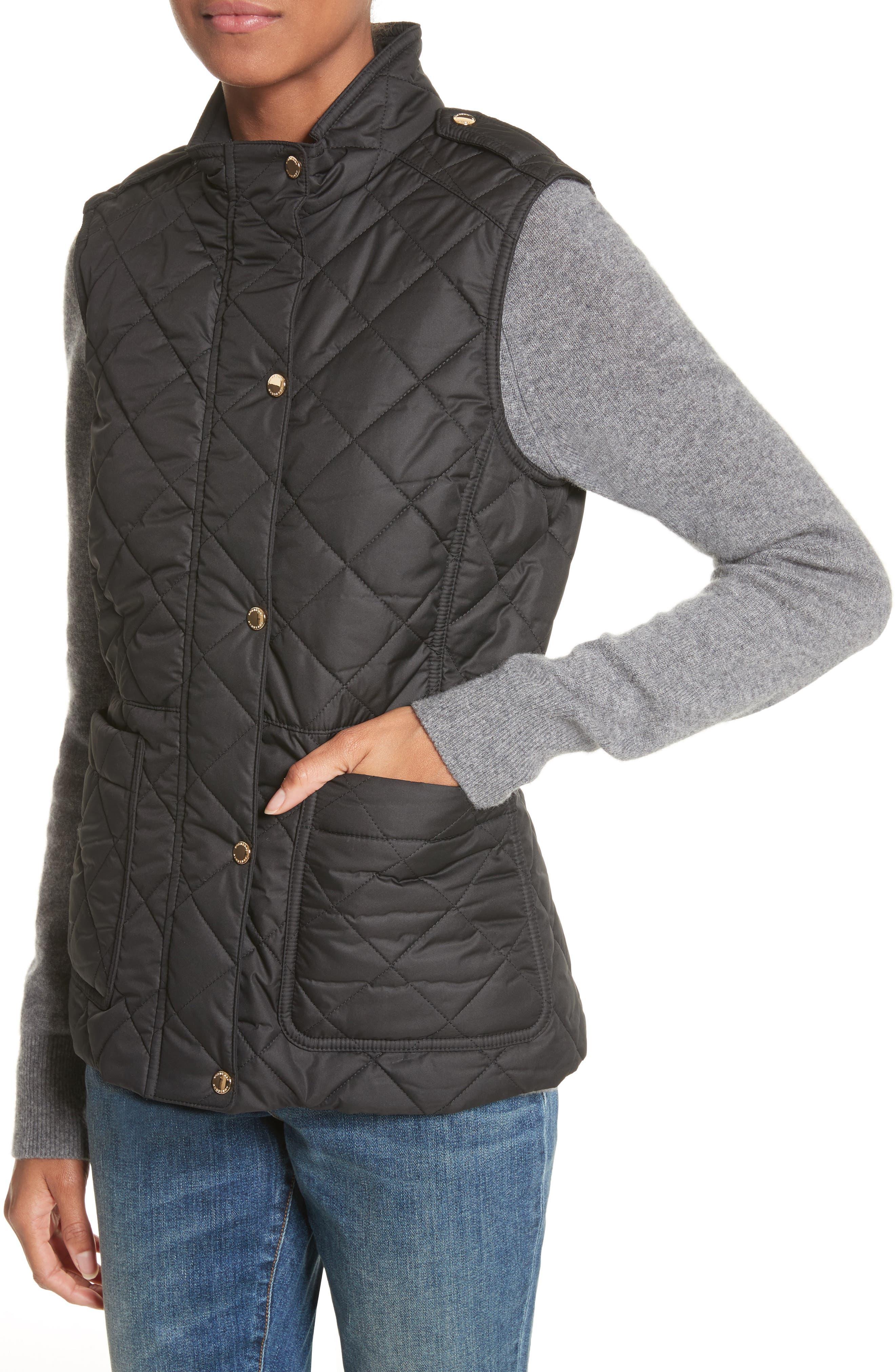 Westleton Quilted Vest,                             Alternate thumbnail 4, color,                             Black