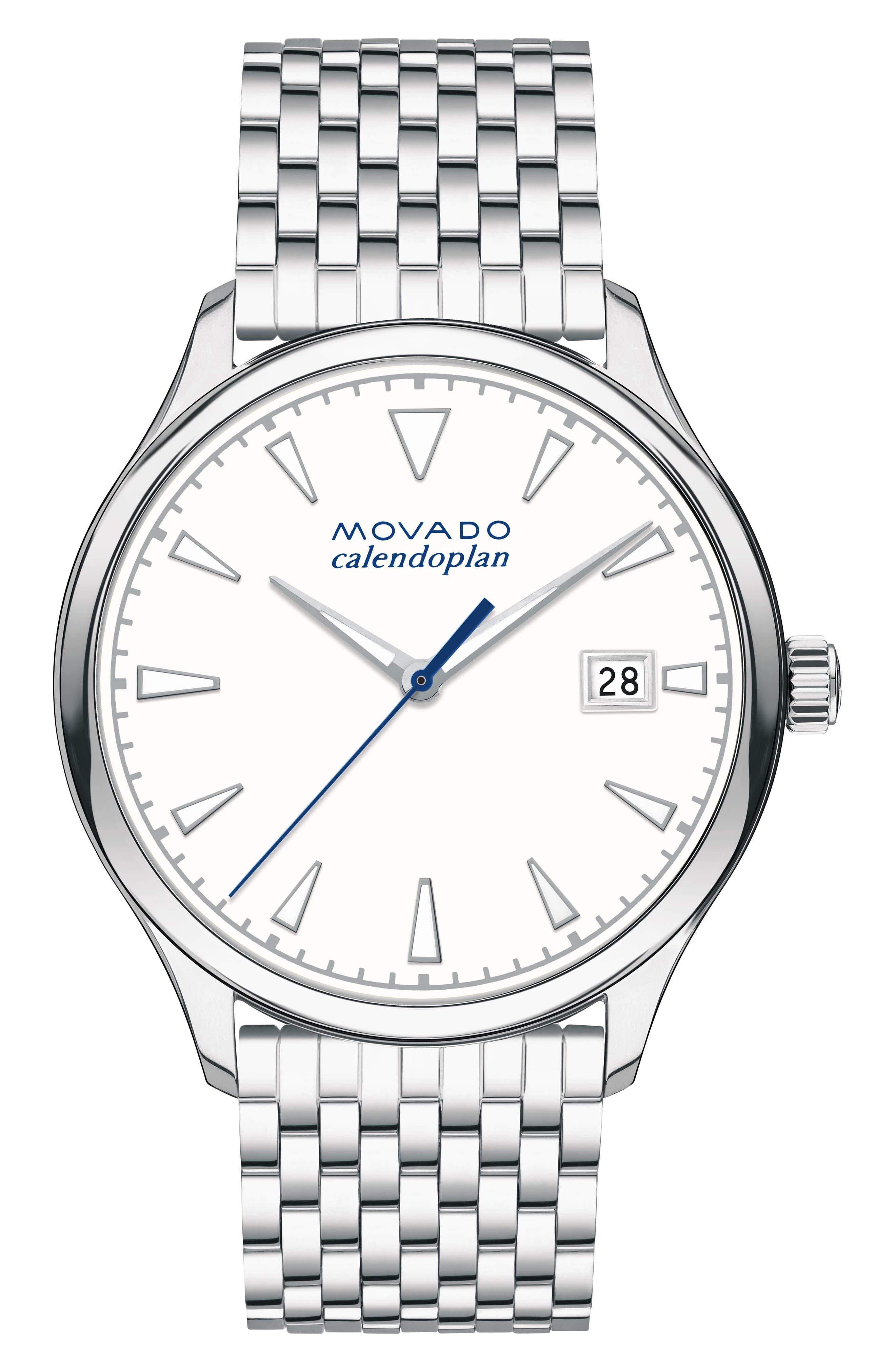 Movado Heritage Bracelet Watch, 36mm