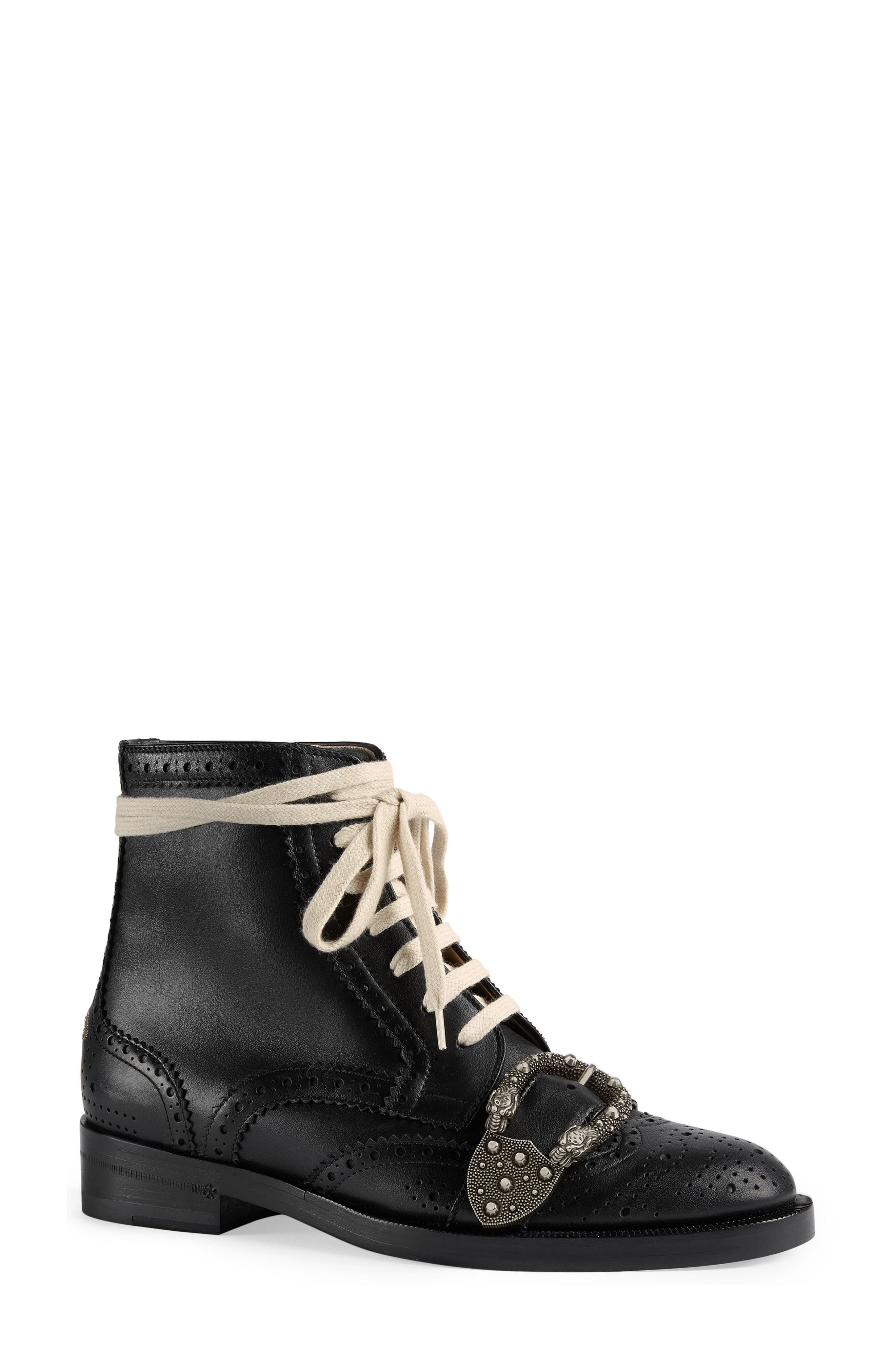 Alternate Image 1 Selected - Gucci Queercore Combat Boot (Women)
